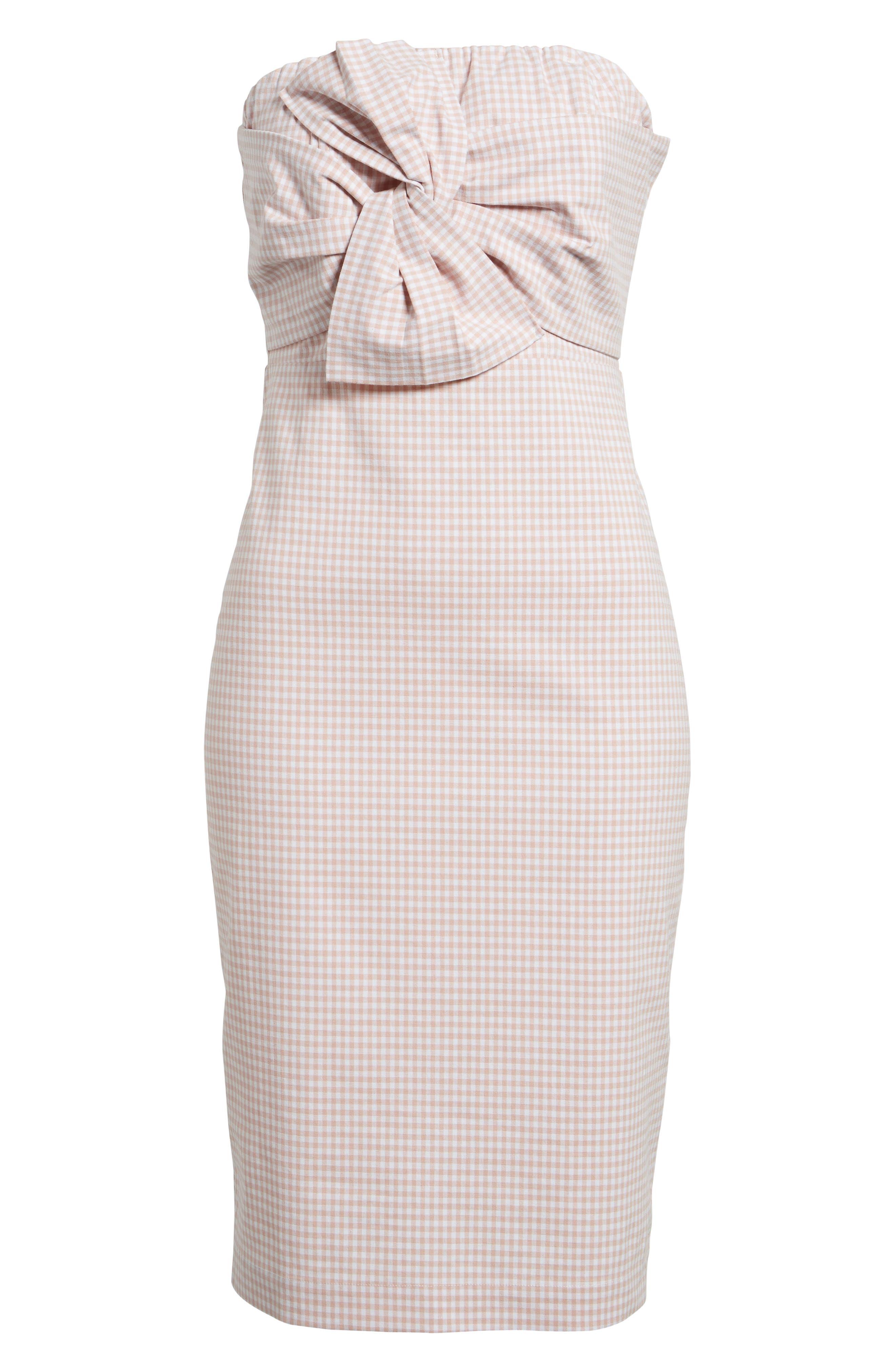 Strapless Gingham Dress,                             Alternate thumbnail 12, color,