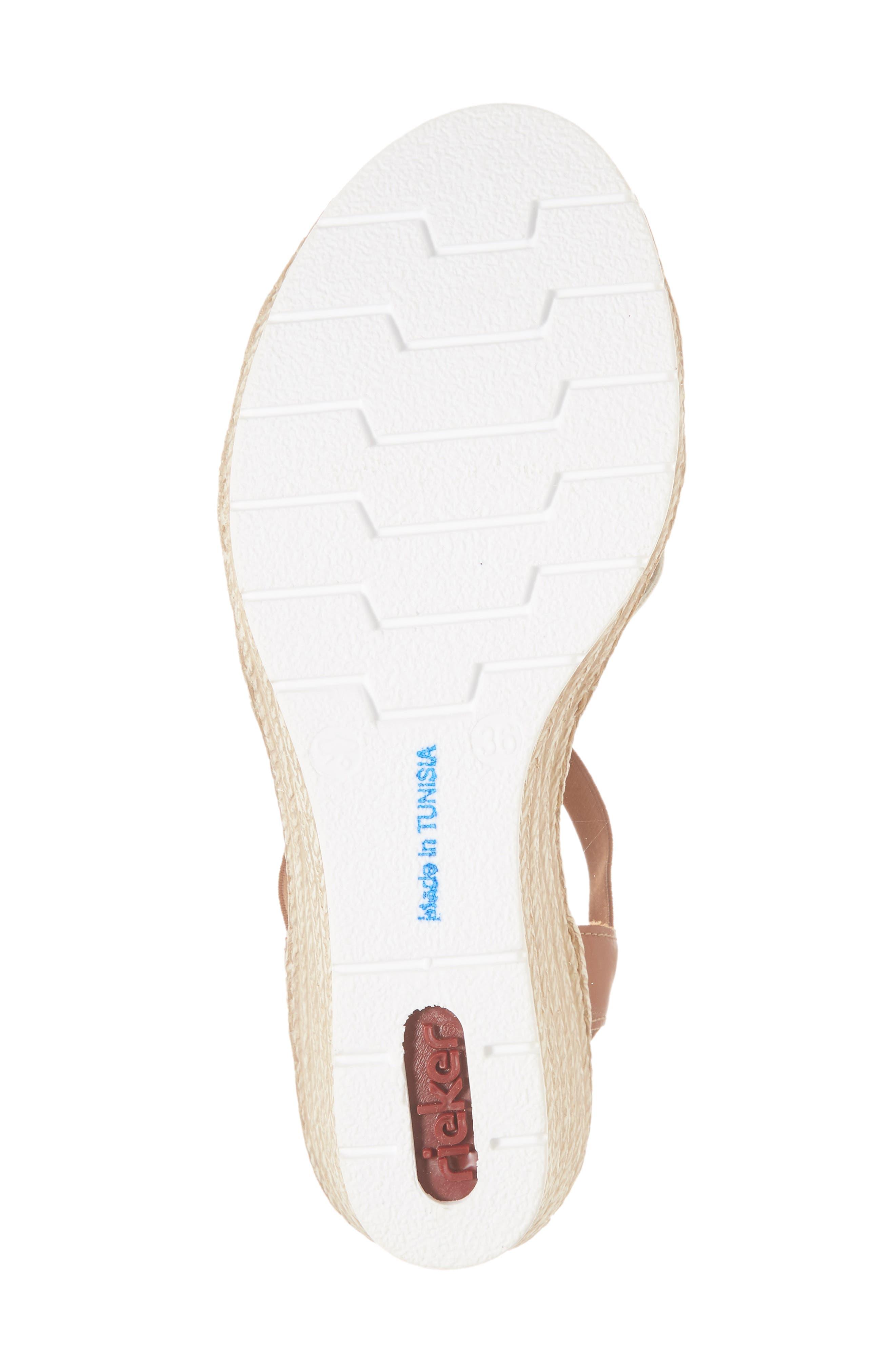 RIEKER ANTISTRESS,                             Fanni 95 Espadrille Wedge Sandal,                             Alternate thumbnail 6, color,                             BIANCO/ CAYENNE