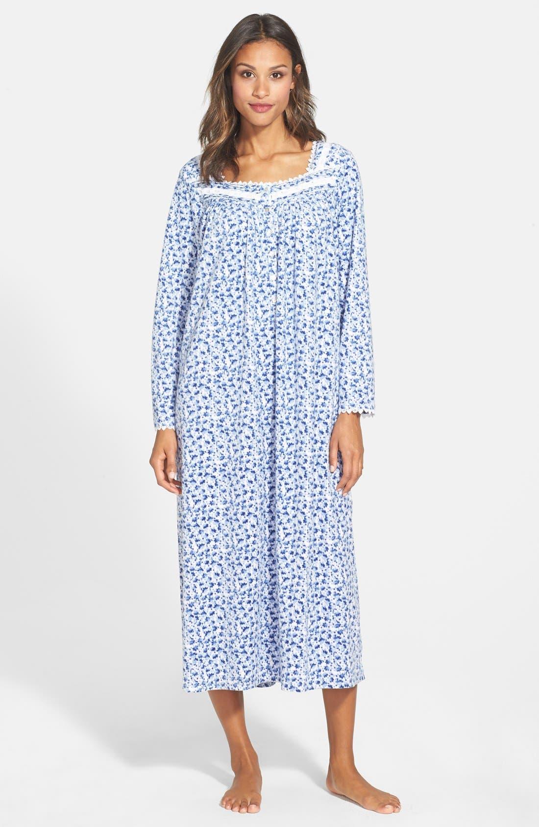 'Sonata' Long Sleeve Microfleece Nightgown, Main, color, 452