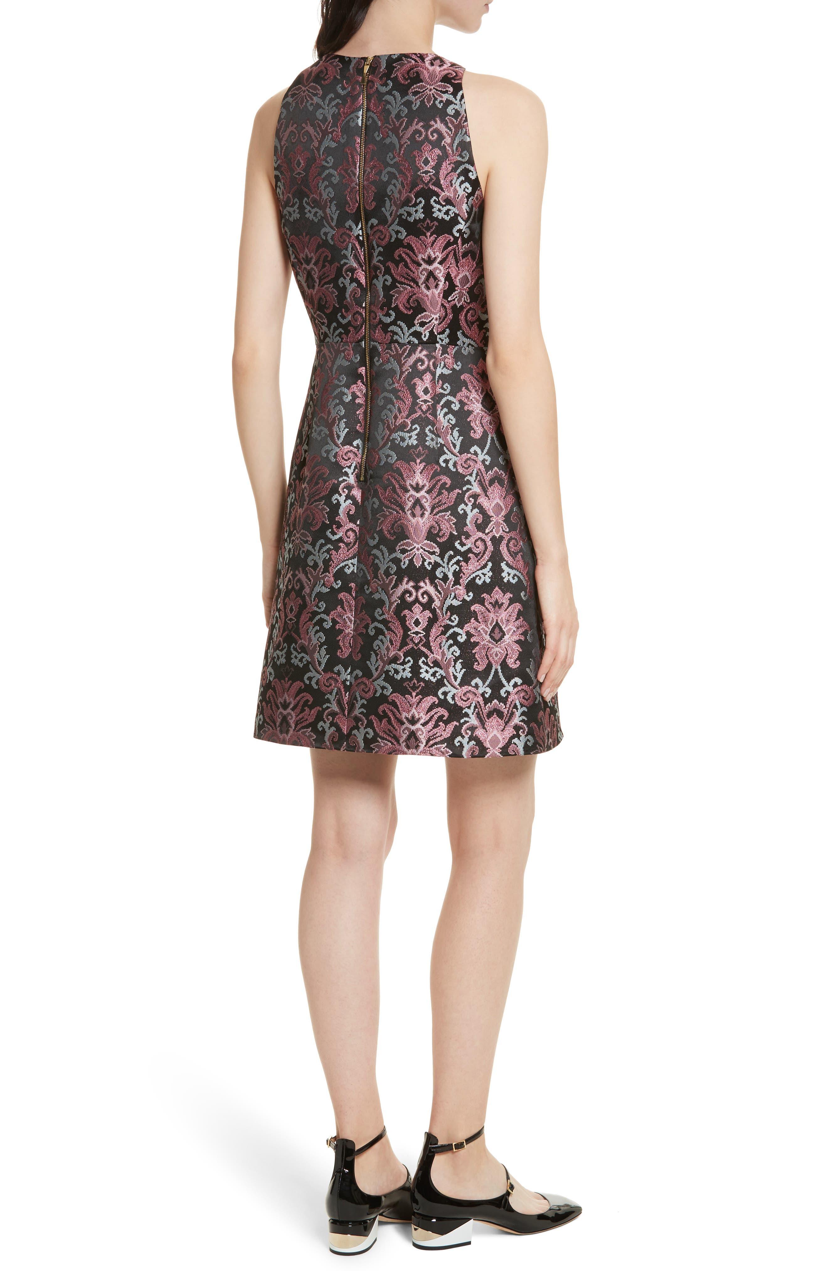 tapestry jacquard dress,                             Alternate thumbnail 2, color,                             004