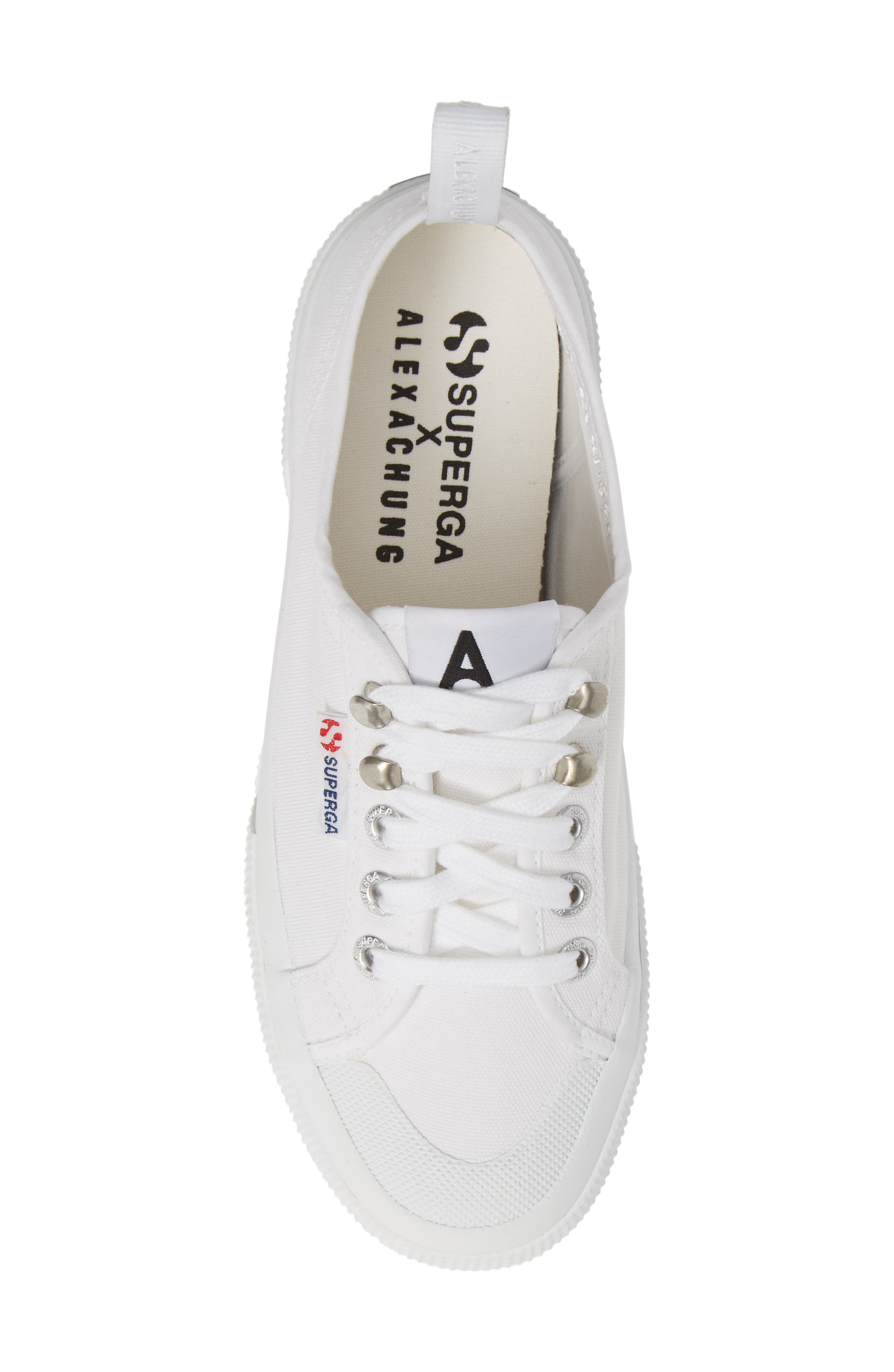 x Alexa Chung 2294 Cothookw Low Top Sneaker,                             Alternate thumbnail 5, color,                             WHITE