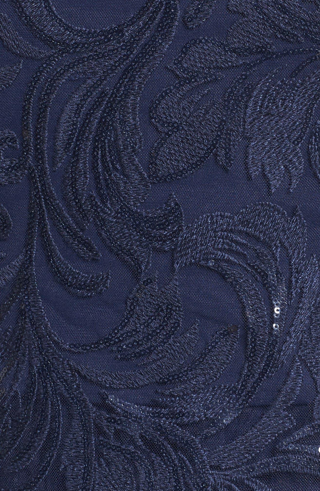 Sequin Bodice Gown,                             Alternate thumbnail 5, color,                             410