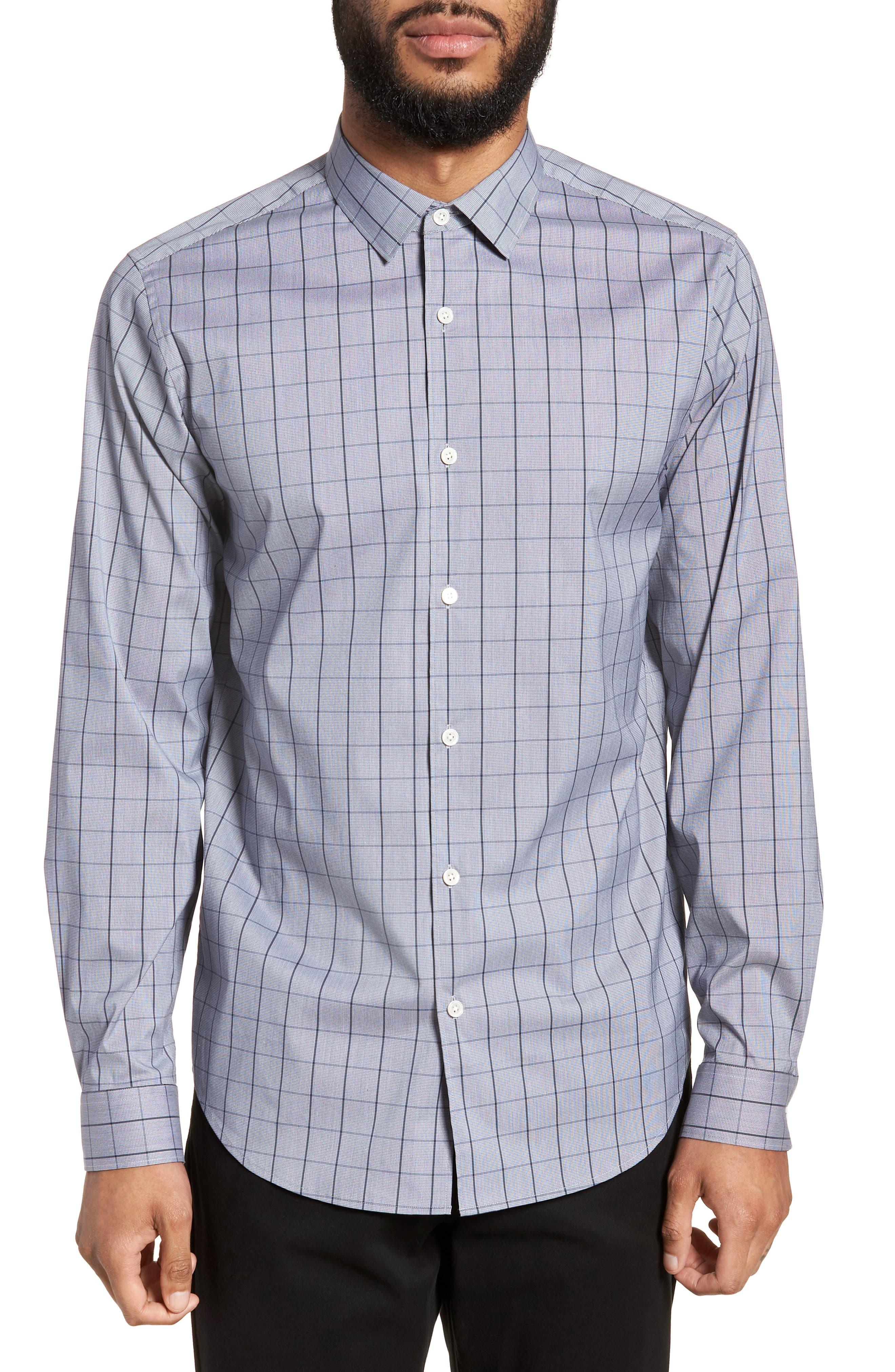 Murrary Trim Fit Stretch Check Sport Shirt,                         Main,                         color, 471