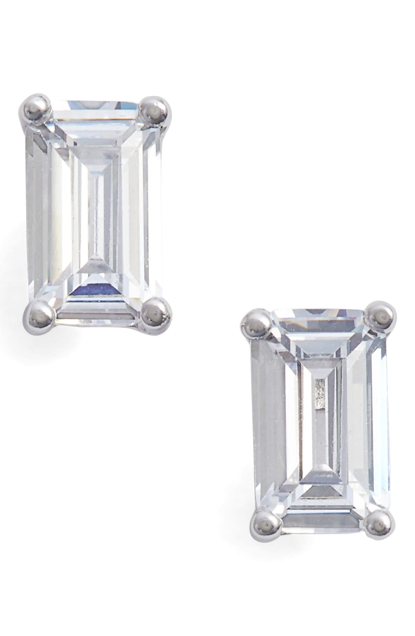 Emerald Cut 0.50ct tw Cubic Zirconia Stud Earrings,                         Main,                         color, 040