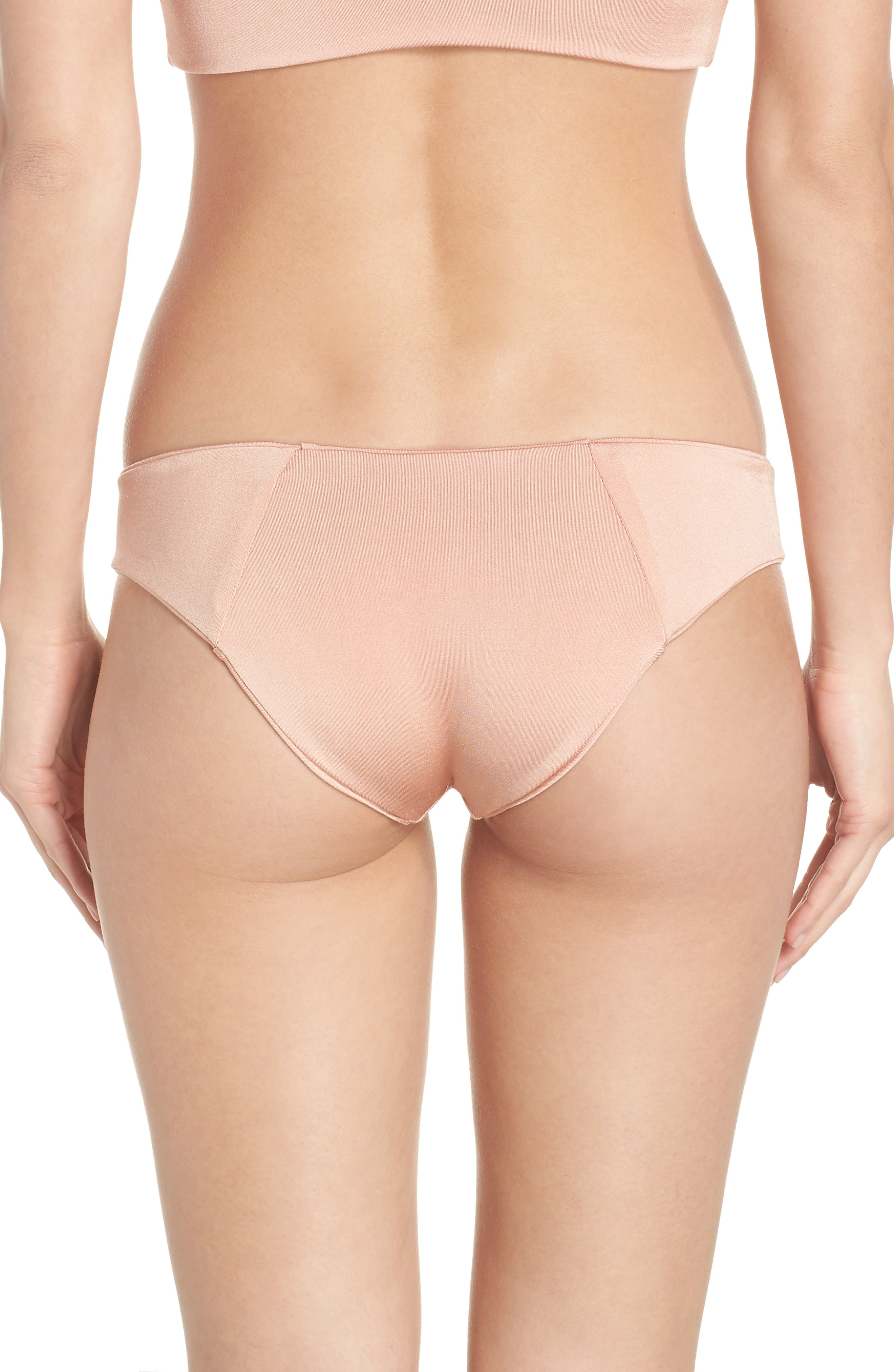 Charlie Bikini Bottoms,                             Alternate thumbnail 2, color,                             BLUSH & BASHFUL