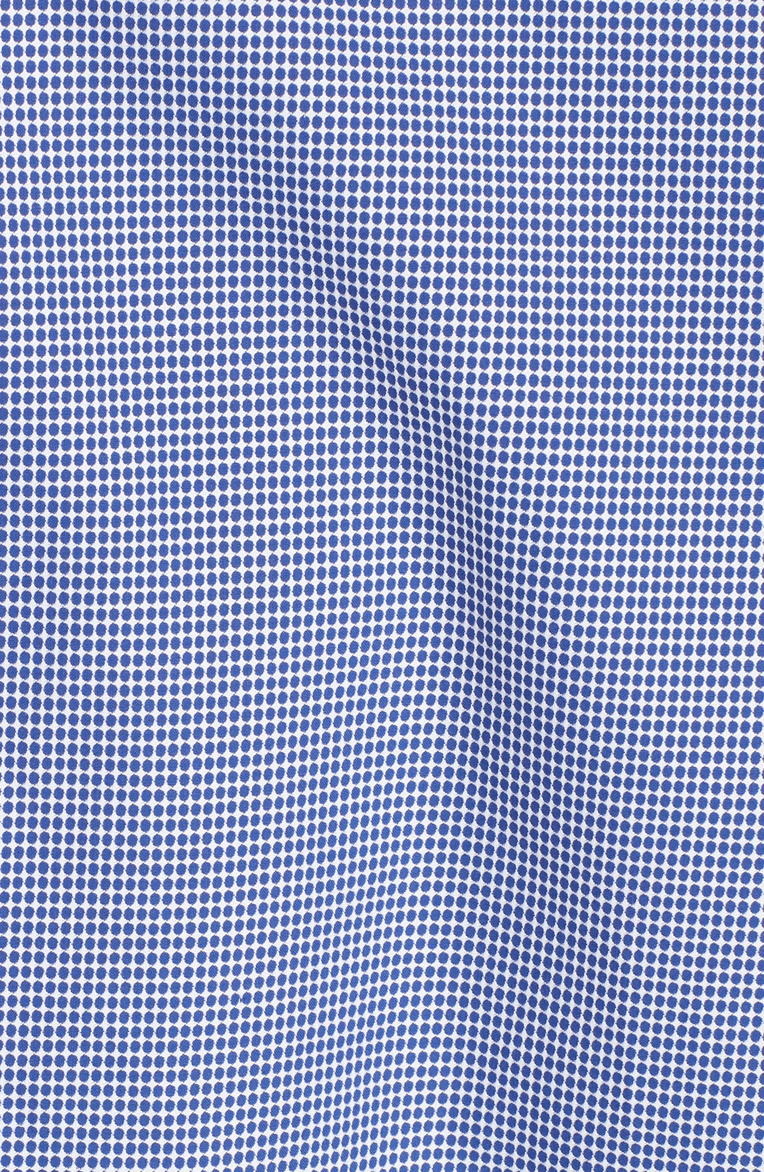 Slim Fit Dot Dress Shirt,                             Alternate thumbnail 5, color,                             NAVY