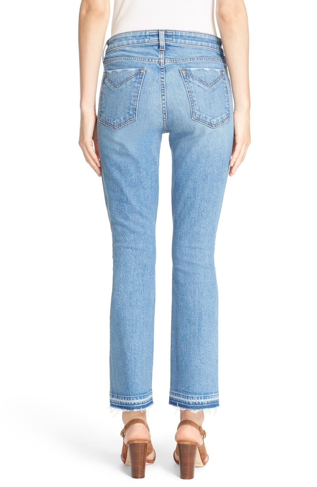 'Gia' Crop Flare Jeans,                             Alternate thumbnail 3, color,                             458