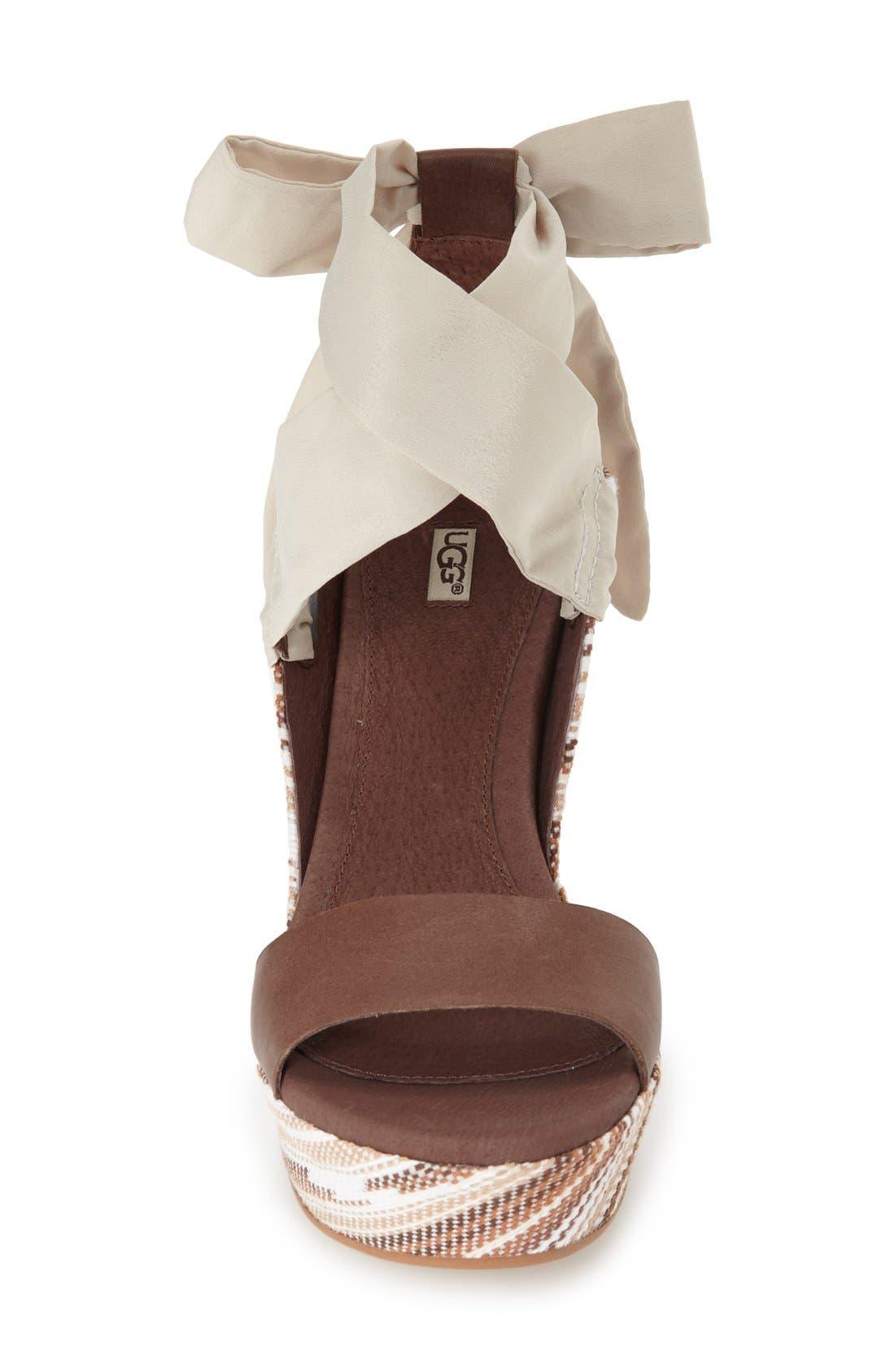UGG<SUP>®</SUP>,                             'Jules Serape' Platform Wedge Sandal,                             Alternate thumbnail 3, color,                             201