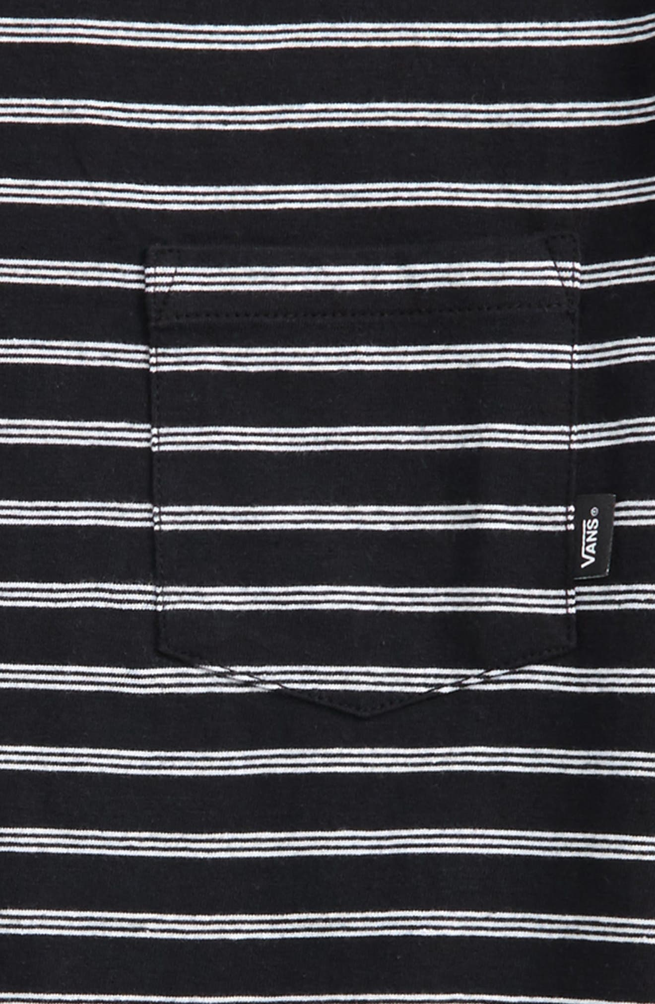 Lined Up Knit T-Shirt,                             Alternate thumbnail 2, color,                             001