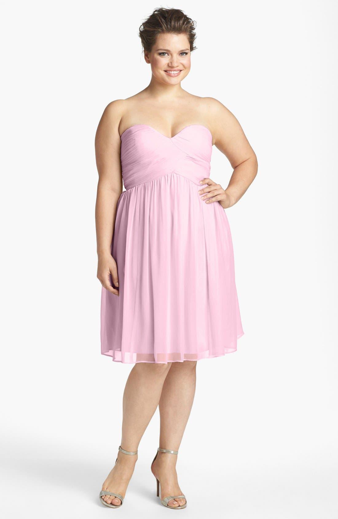 'Morgan' Strapless Silk Chiffon Dress,                             Alternate thumbnail 68, color,