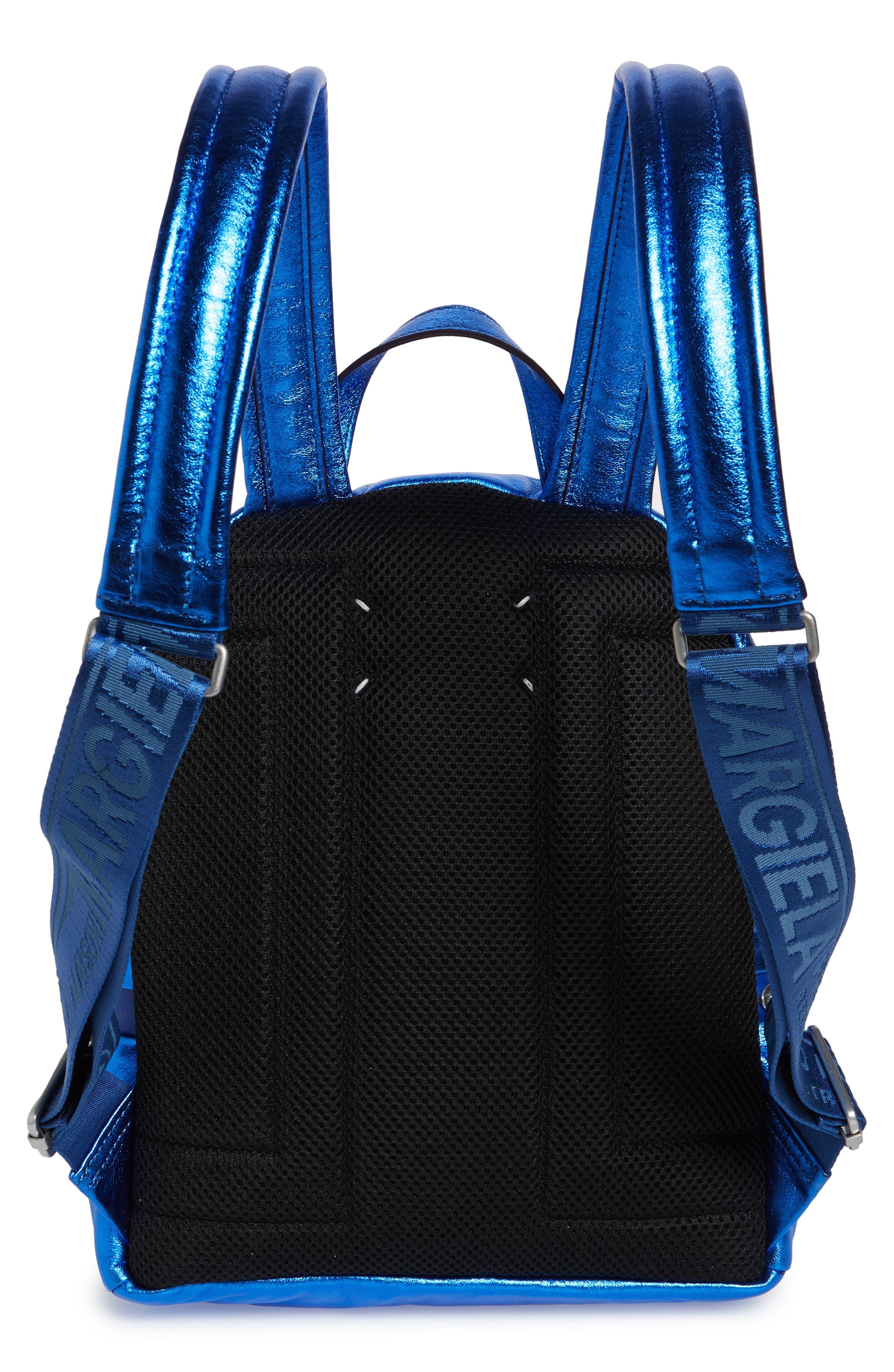 MAISON MARGIELA,                             Medium Number Print Backpack,                             Alternate thumbnail 3, color,                             DAZZLING BLUE
