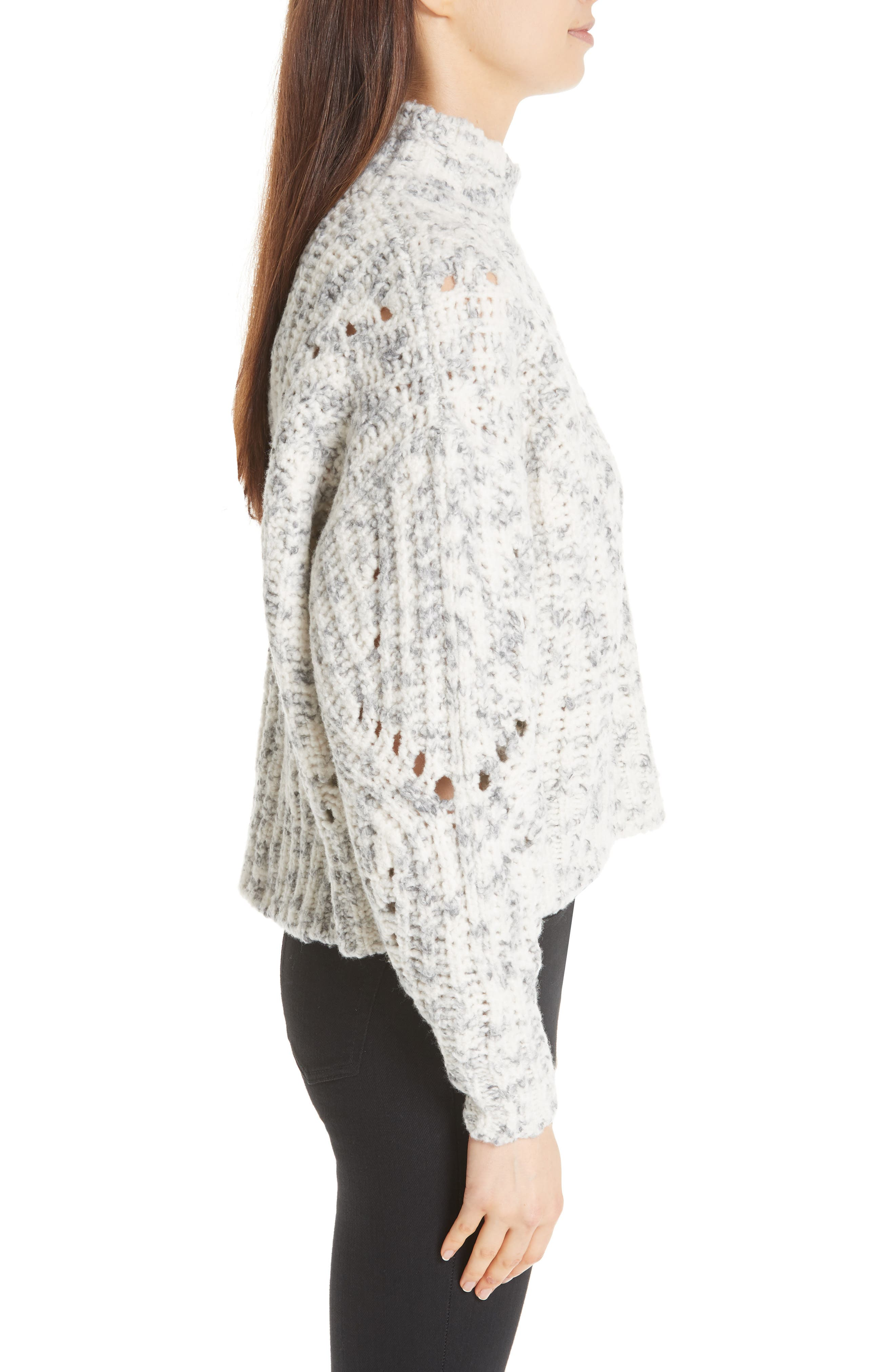 Jilly Wool Sweater,                             Alternate thumbnail 3, color,                             900