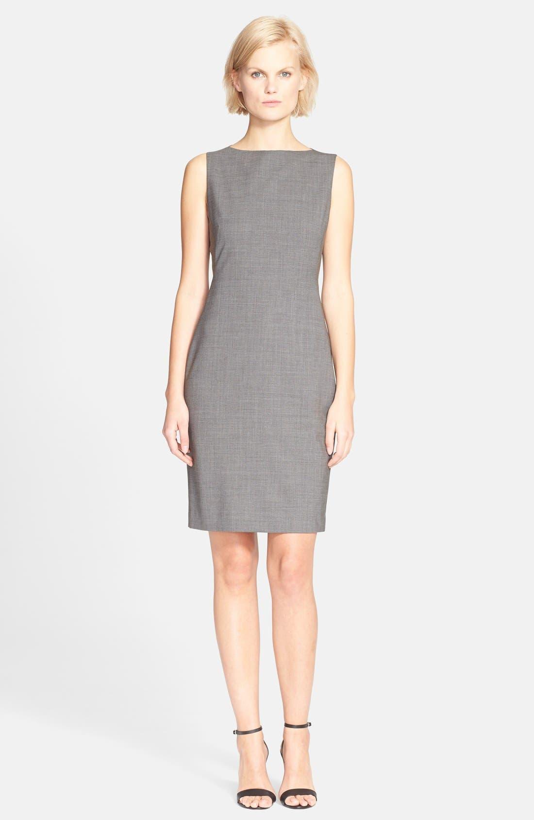 'Betty.2B' Stretch Wool Sheath Dress,                             Main thumbnail 3, color,