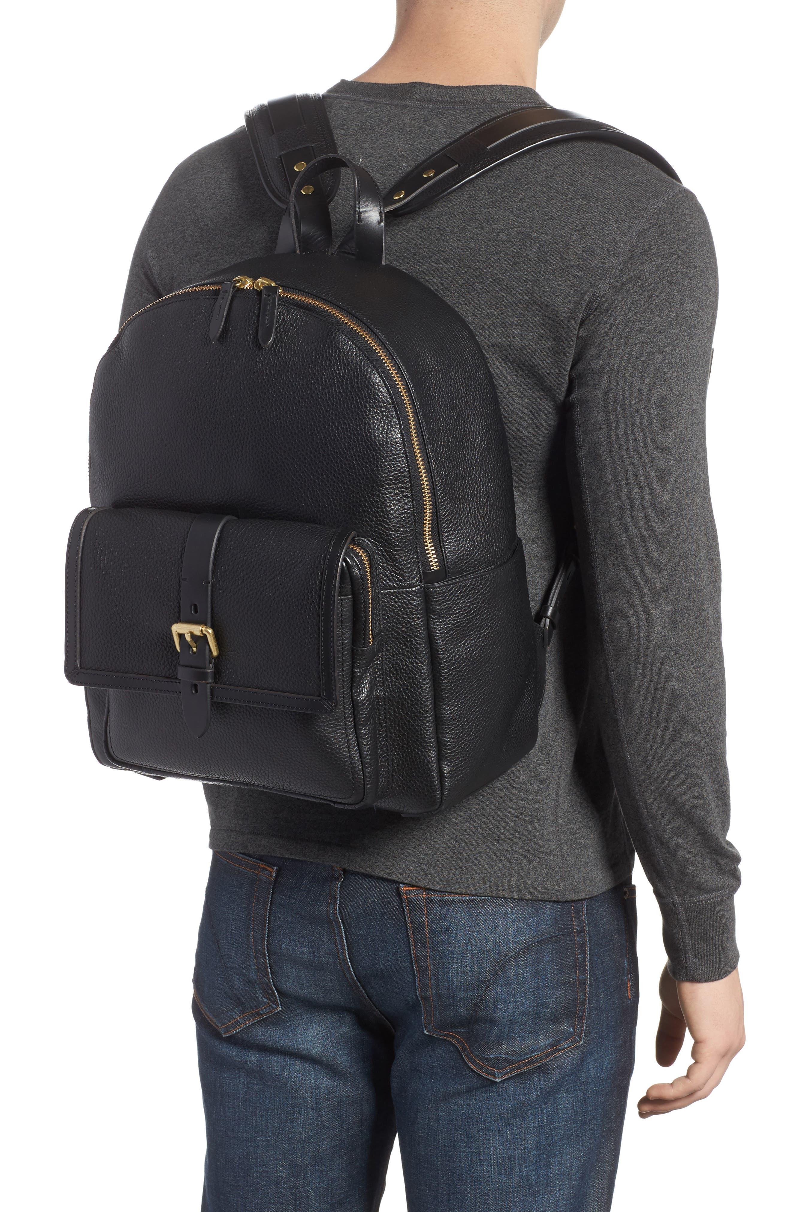 Brayton Leather Backpack,                             Alternate thumbnail 2, color,                             001