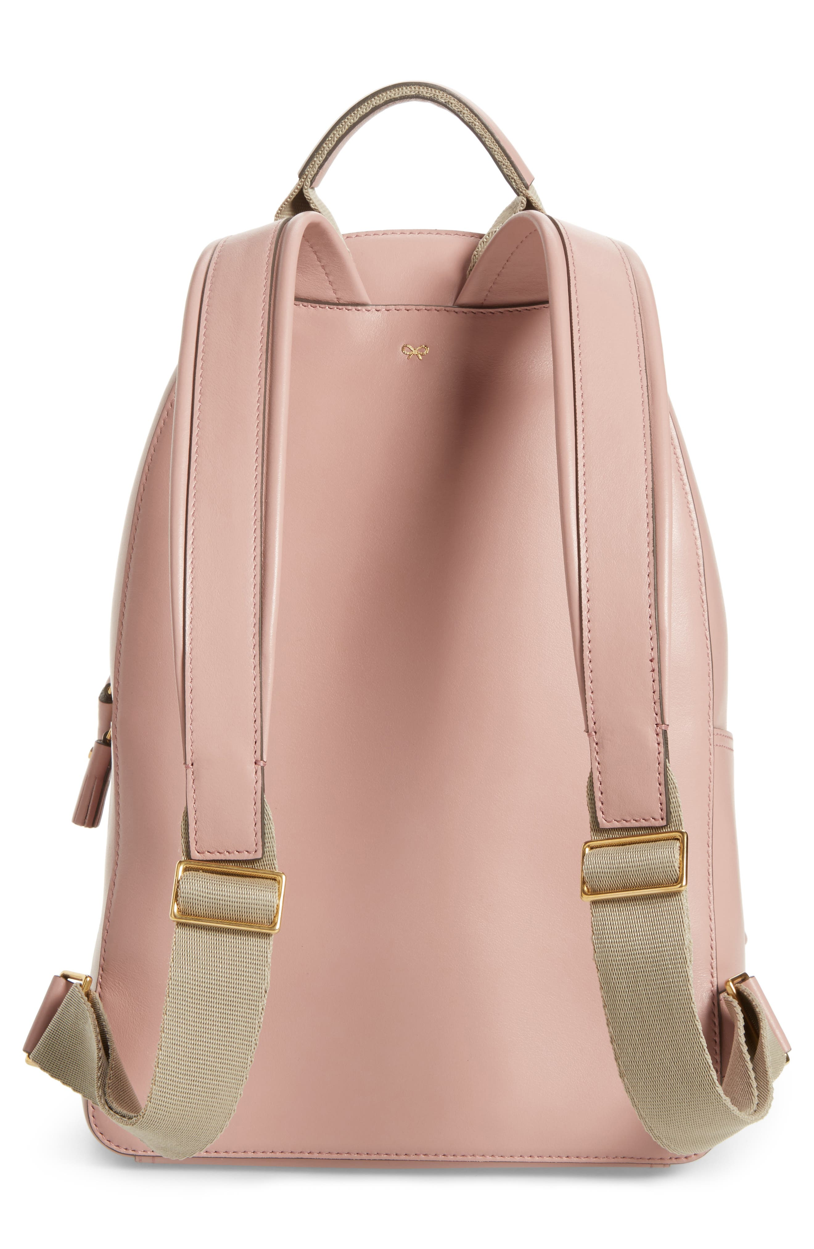 ANYA HINDMARCH,                             Eyes Mini Leather Backpack,                             Alternate thumbnail 3, color,                             650