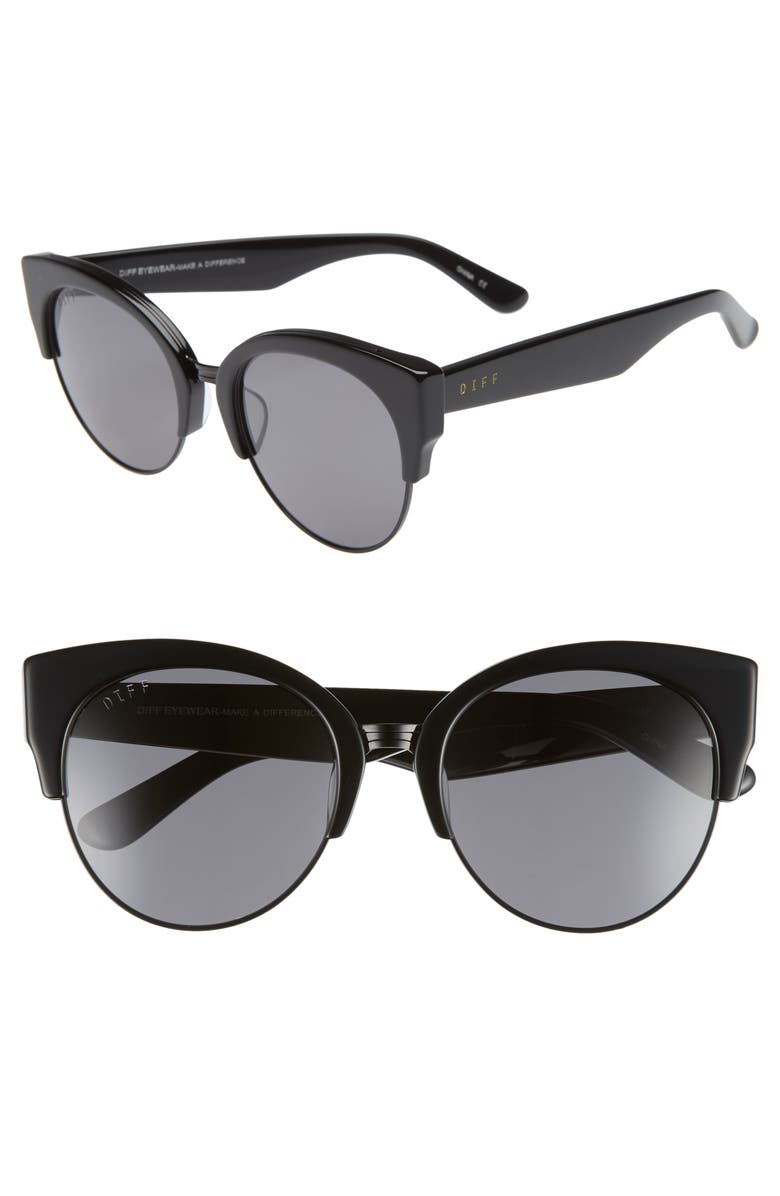ed0bd44a23 DIFF Stella 55mm Polarized Cat Eye Sunglasses