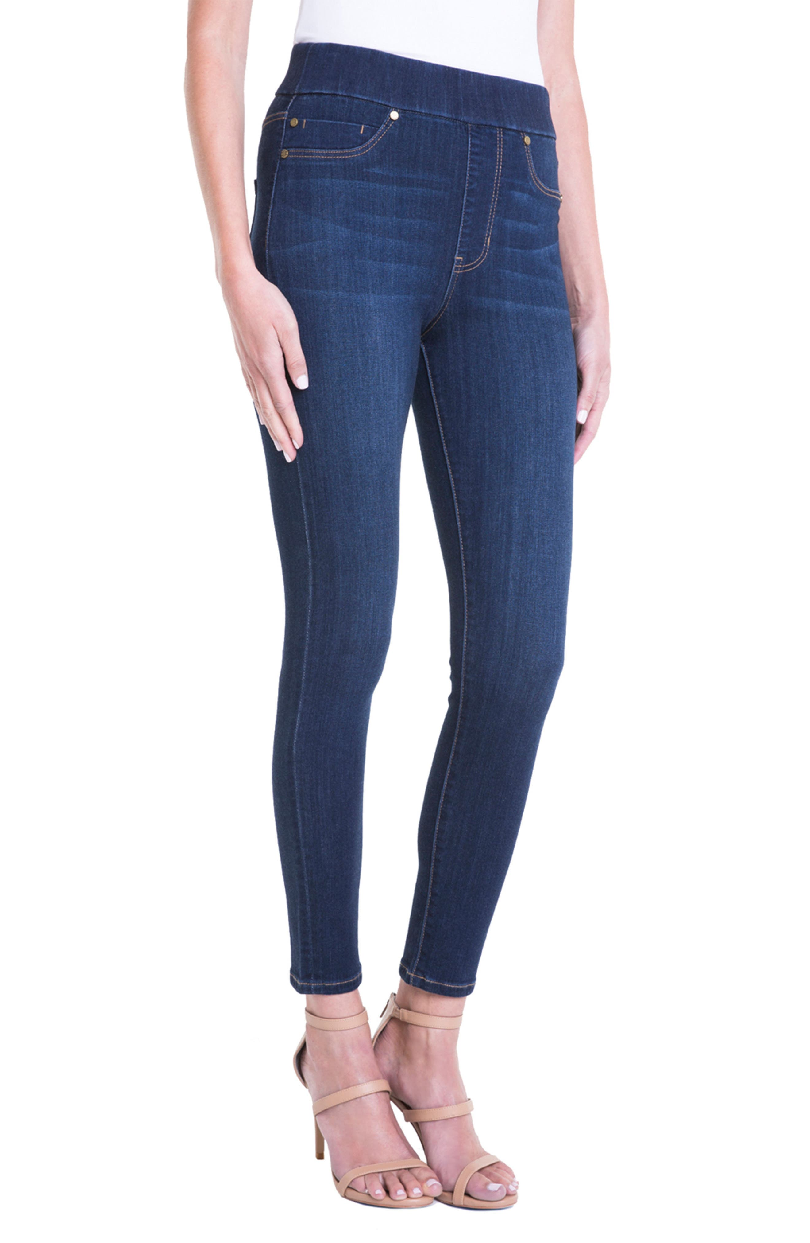 Farrah Pull-On Skinny Ankle Jeans,                             Alternate thumbnail 3, color,                             GRIFFITH SUPER DARK