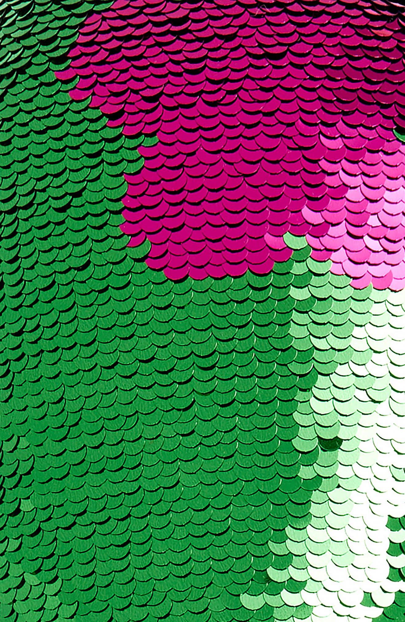Flip Sequin Cactus Pillow,                             Alternate thumbnail 3, color,                             300