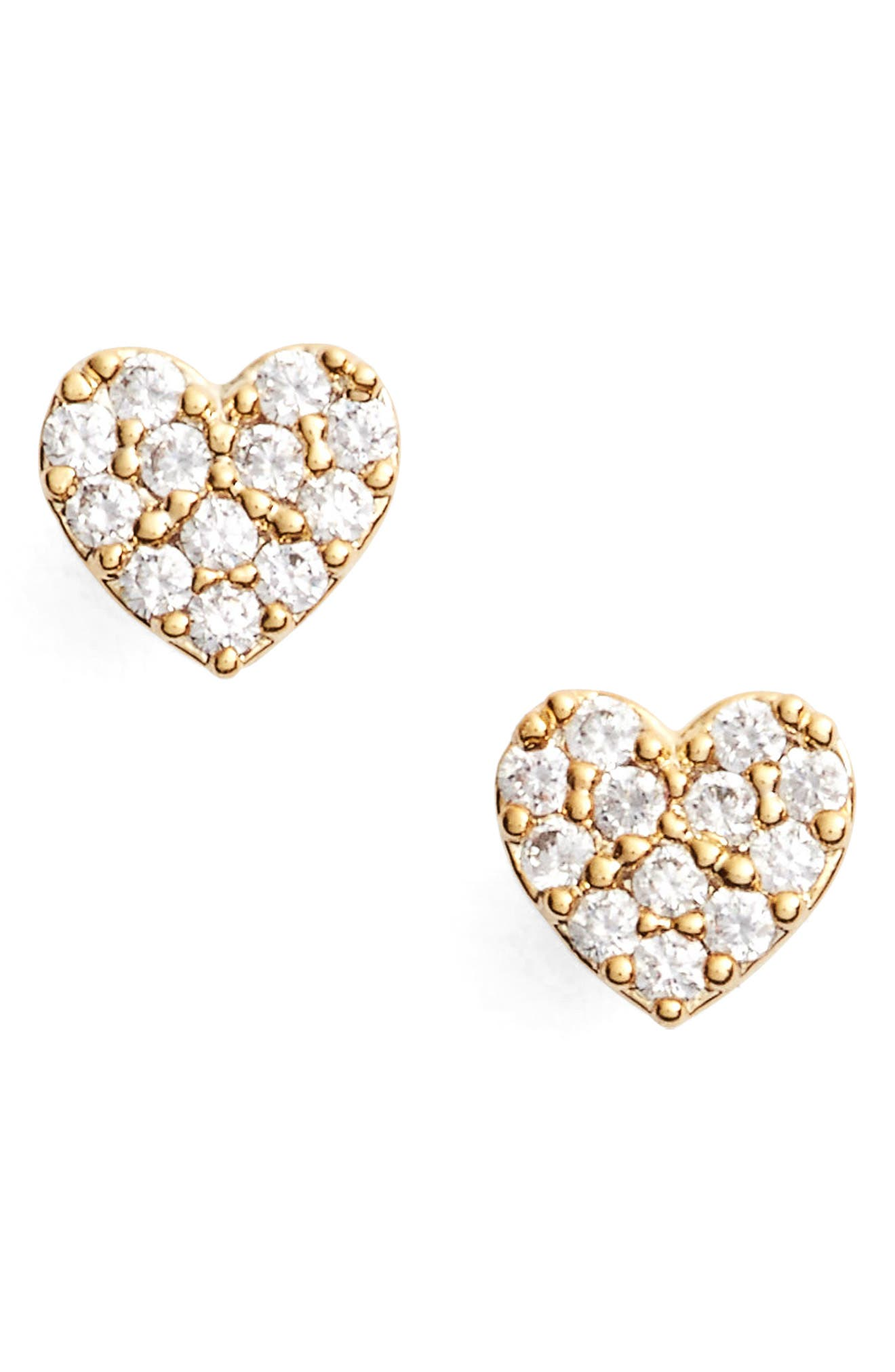ESTELLA BARTLETT Shine Bright Heart Stud Earrings in Gold