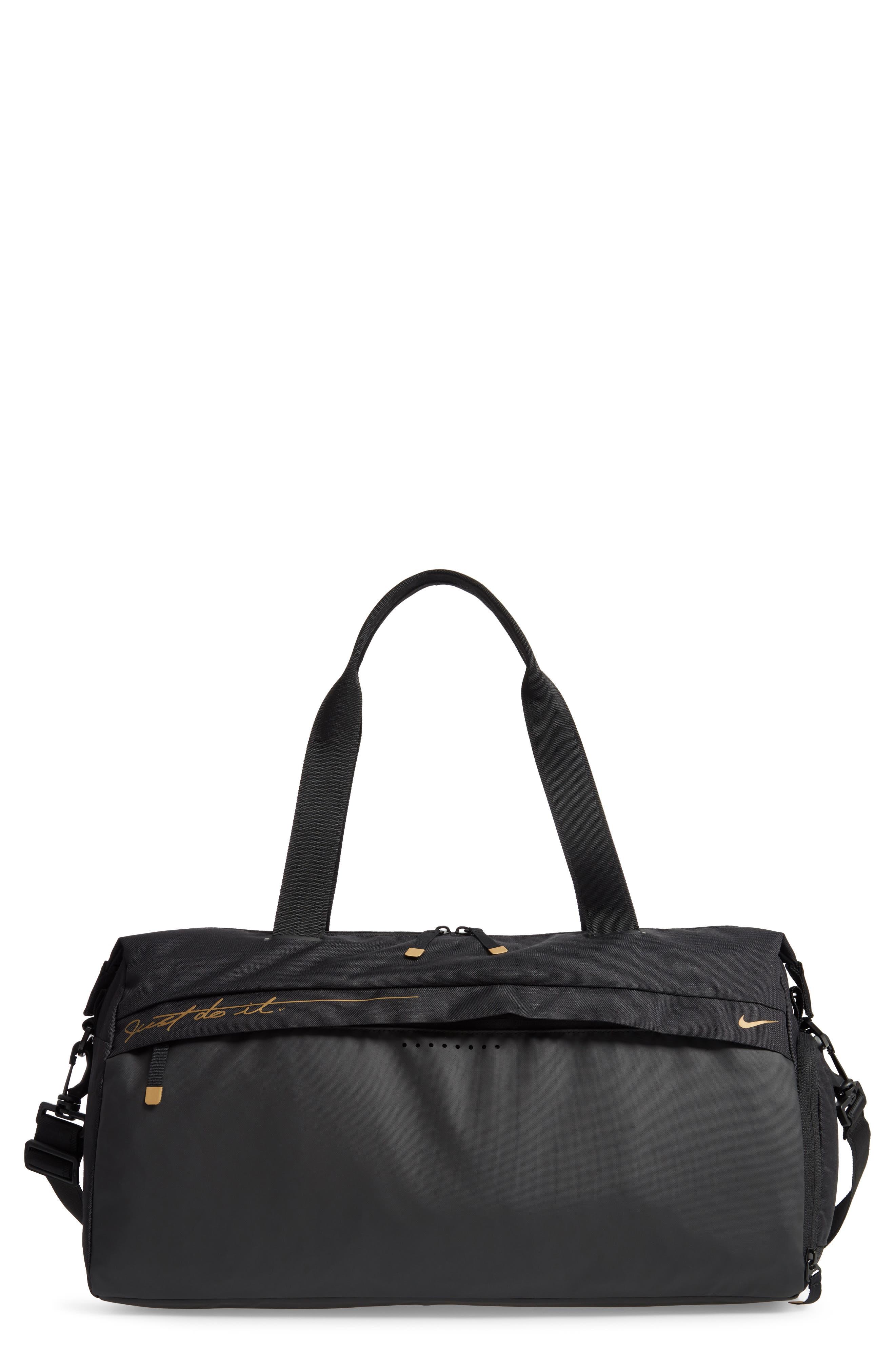 Radiate Club Training Bag,                         Main,                         color, BLACK/ BLACK/ METALLIC GOLD