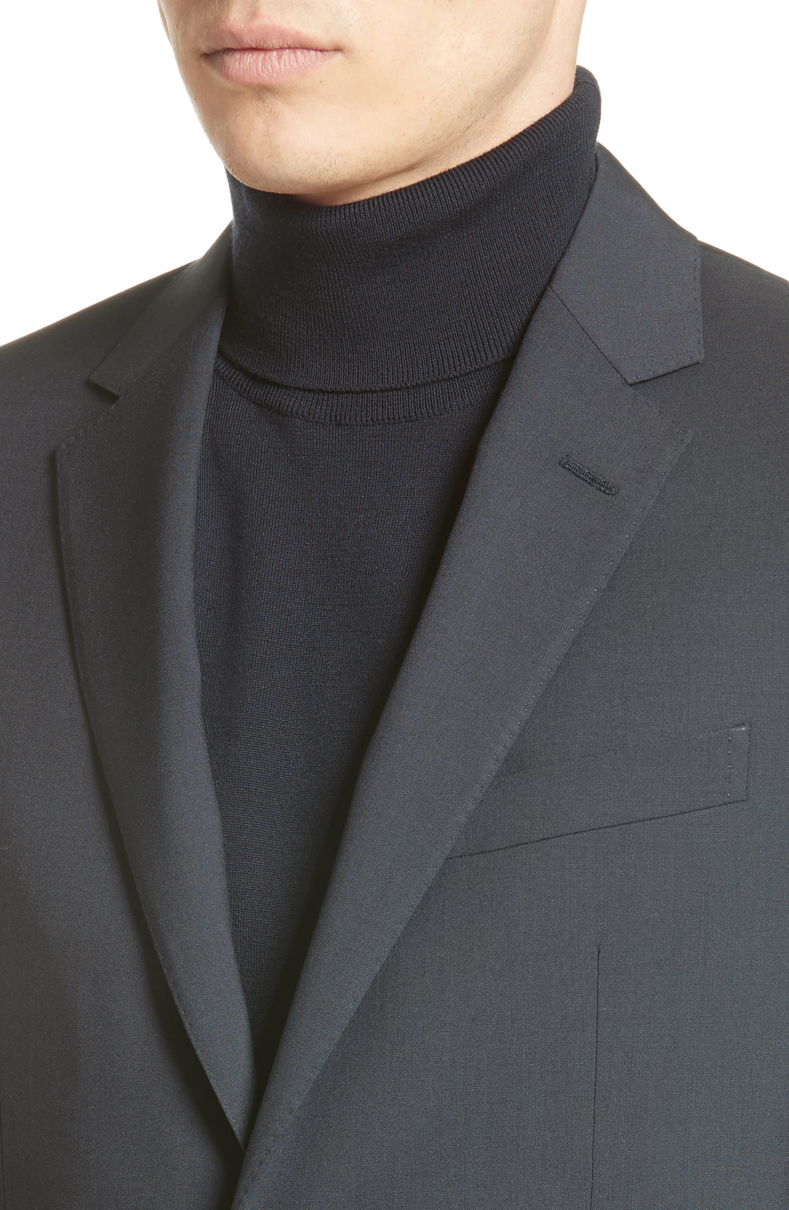 Tropical Wool Suit Jacket,                             Alternate thumbnail 5, color,                             NAVY