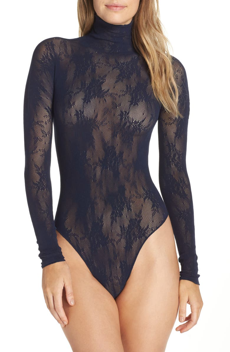 Halogen® x Atlantic-Pacific Lace Thong Bodysuit | Nordstrom