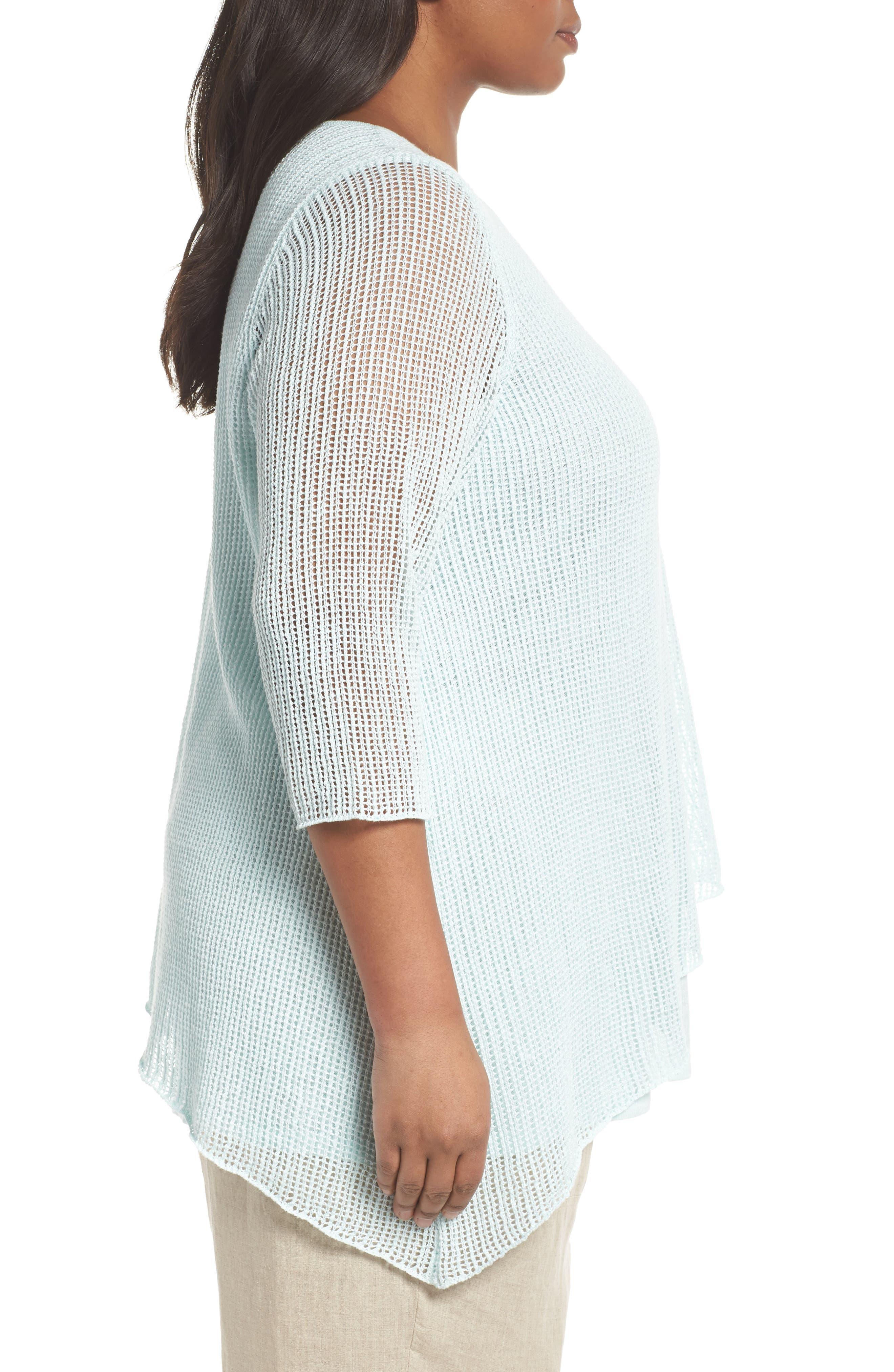 Layered Organic Linen Tunic Sweater,                             Alternate thumbnail 9, color,