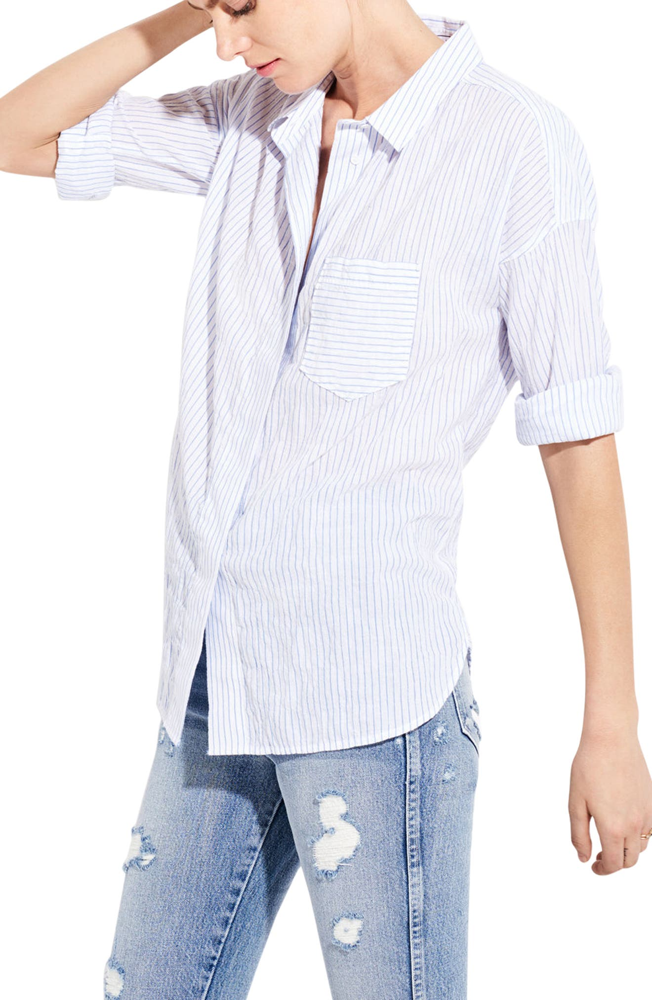 The Biz Stripe Shirt,                             Alternate thumbnail 3, color,                             111