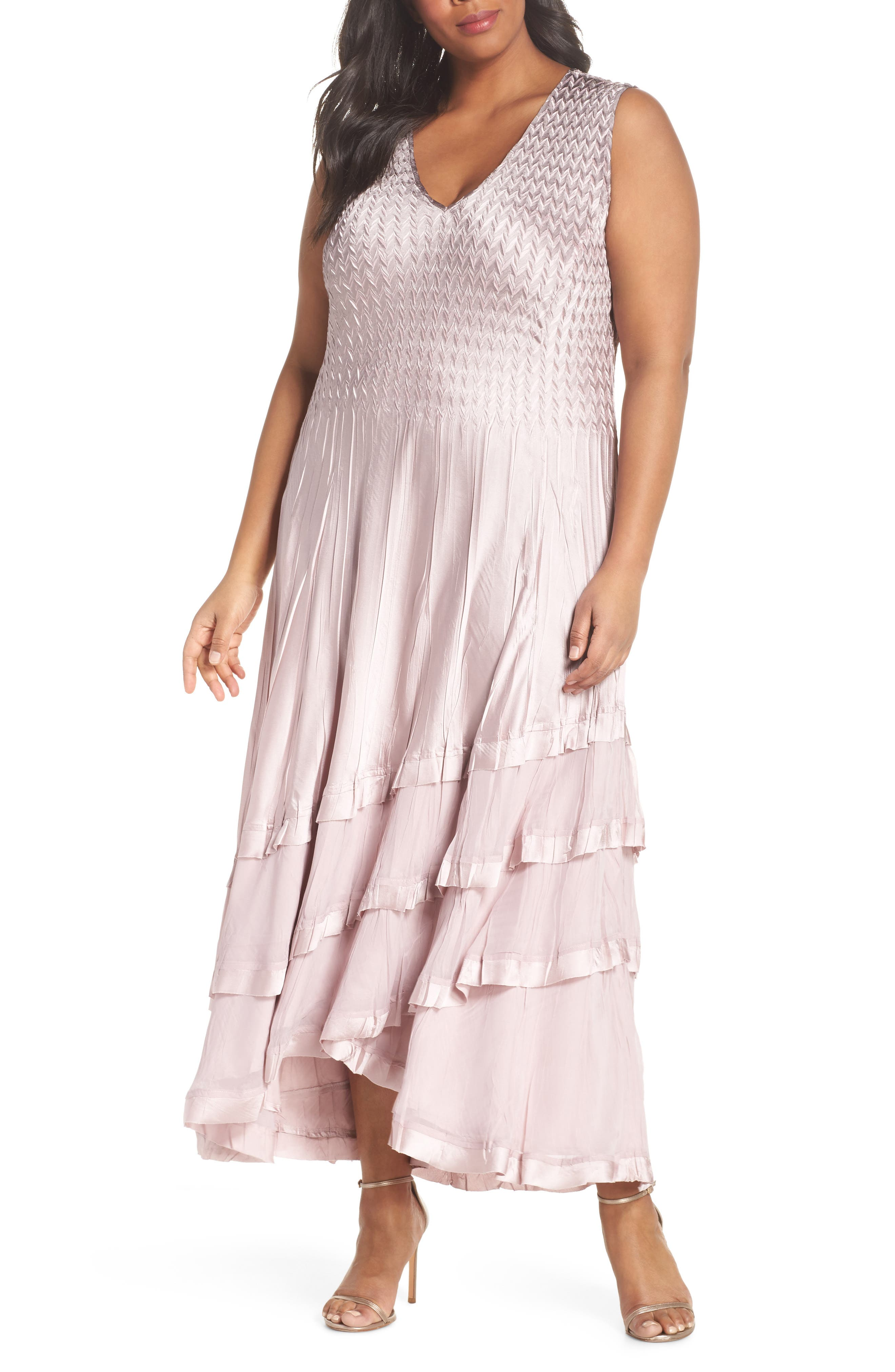 Tiered Maxi Dress with Jacket,                             Alternate thumbnail 3, color,                             657