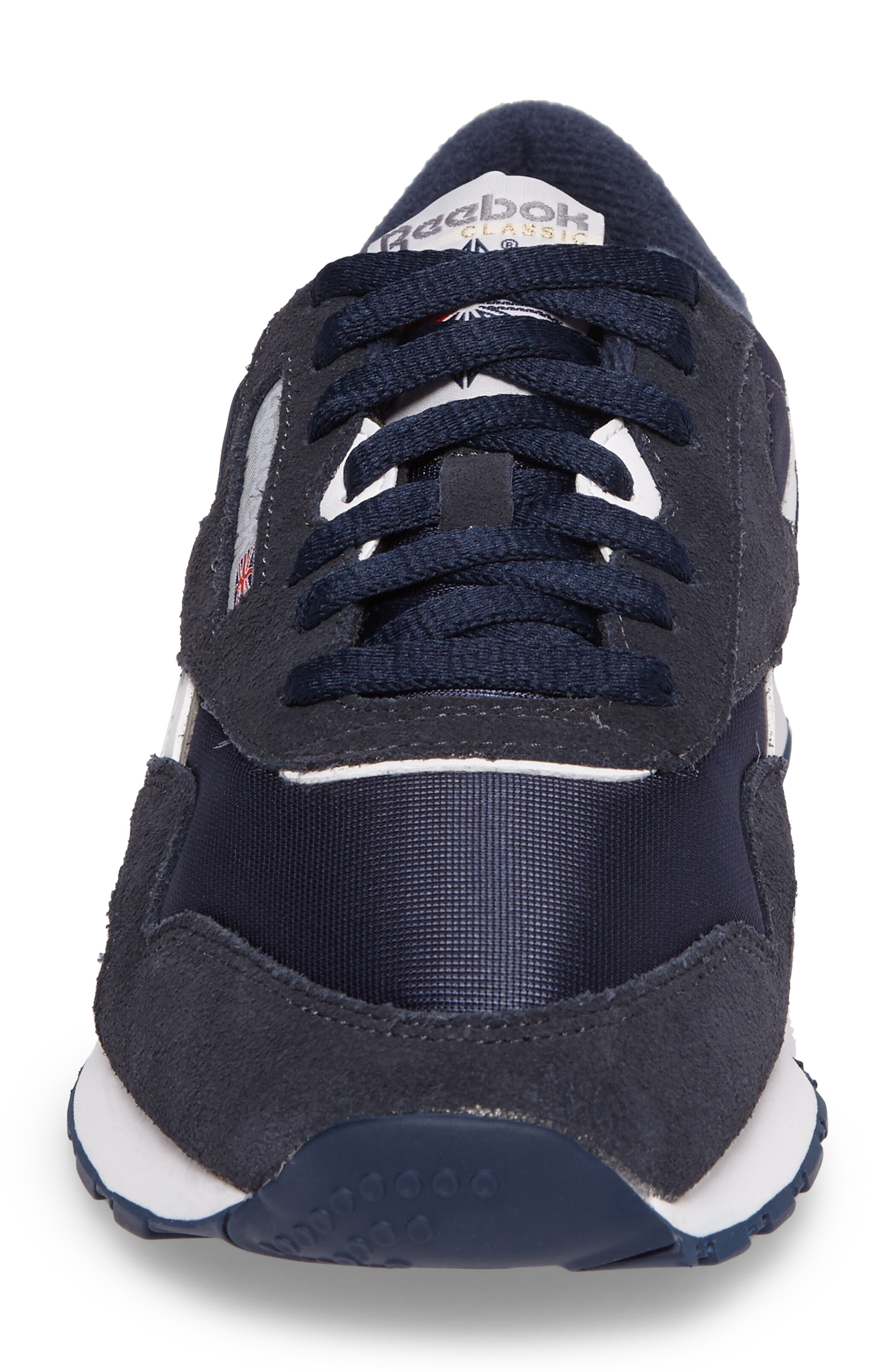 Classic Nylon Sneaker,                             Alternate thumbnail 4, color,                             TEAM NAVY/ PLATINUM