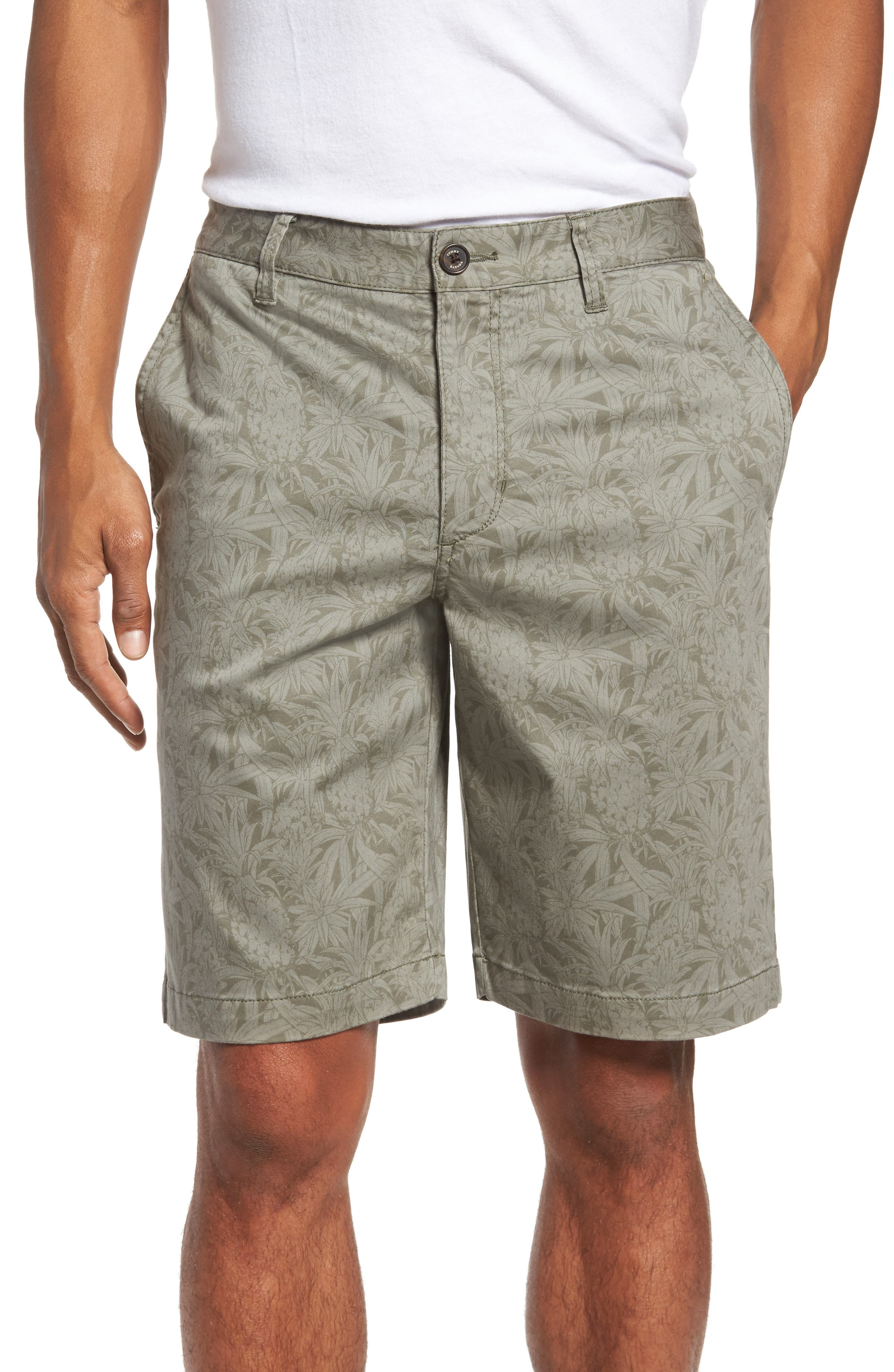 Camo Tropic Standard Fit Chino Shorts,                         Main,                         color, 300