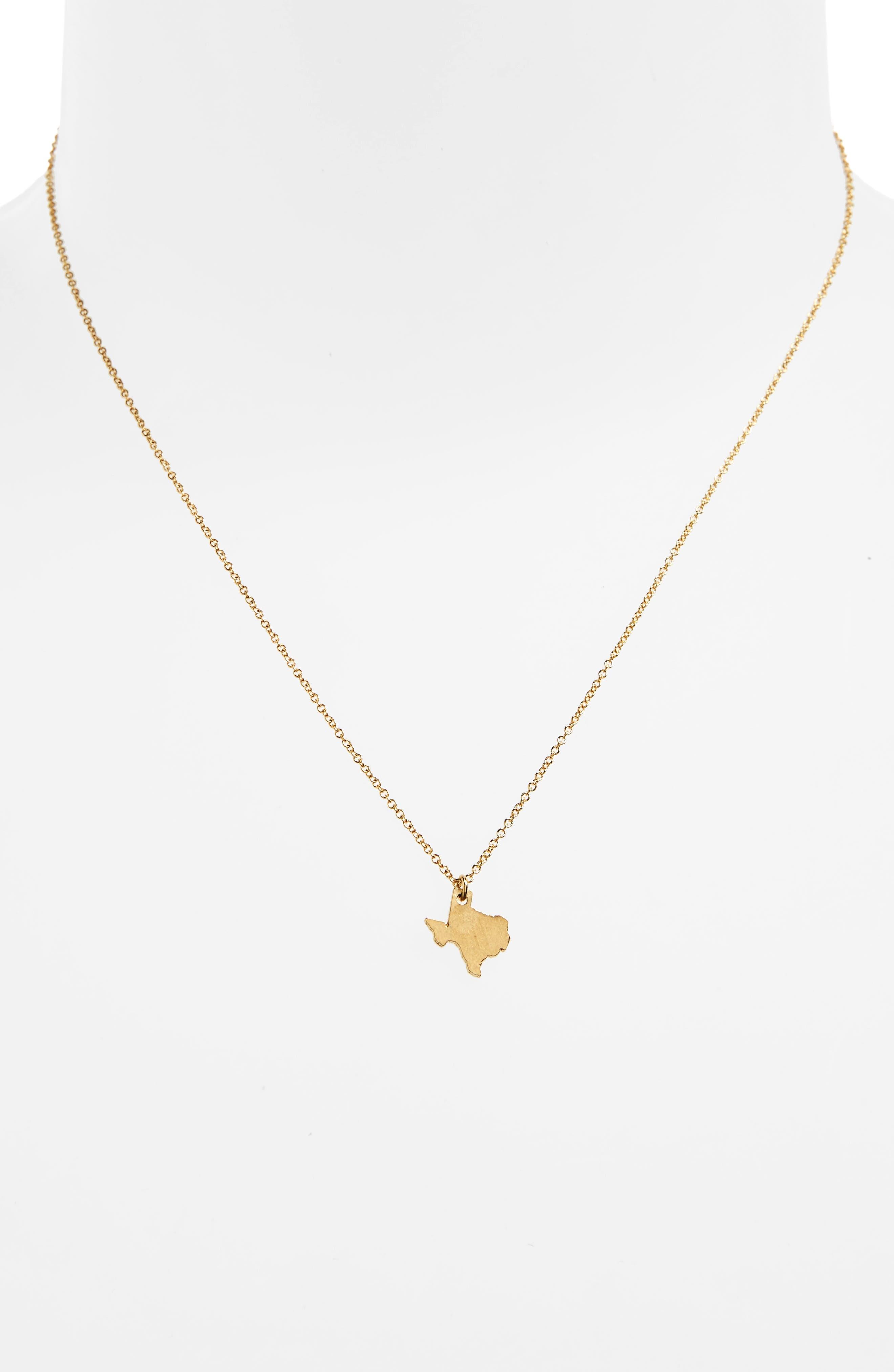 I Heart Texas Pendant Necklace,                             Alternate thumbnail 6, color,