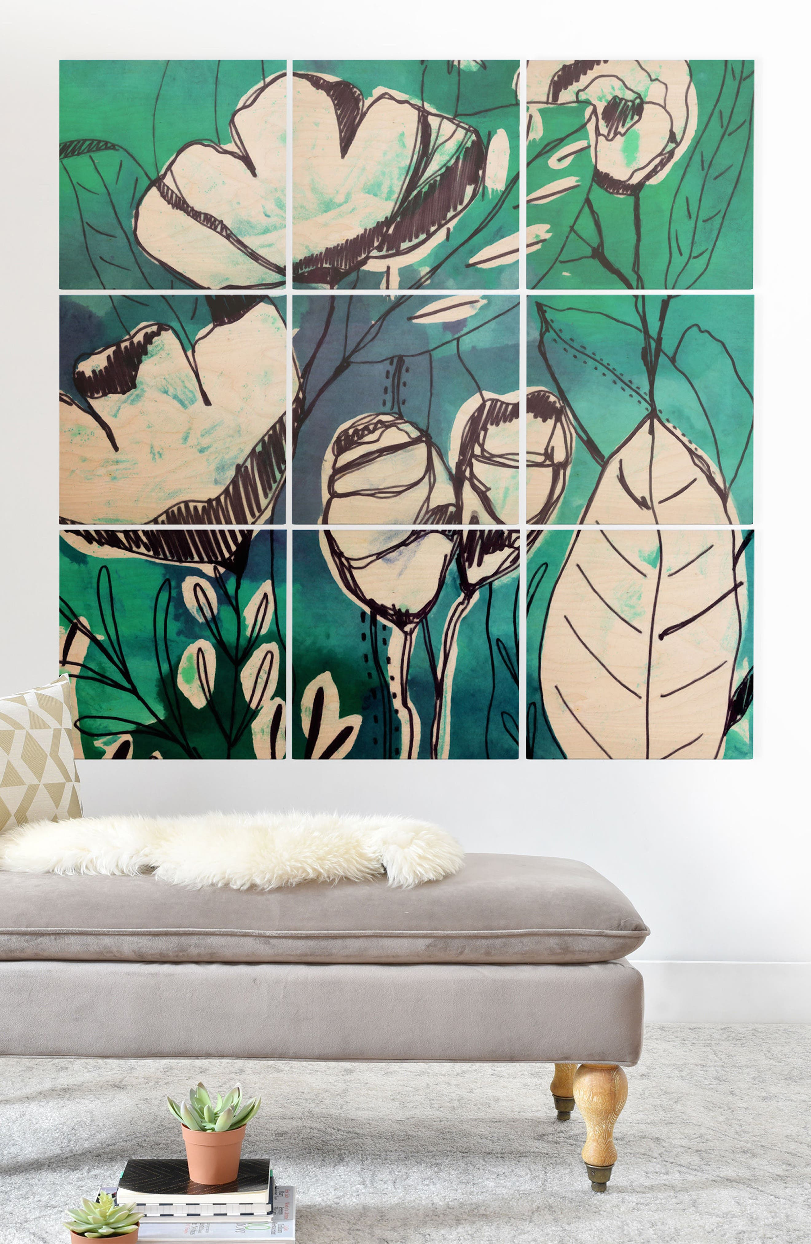9-Piece Wood Wall Mural,                             Alternate thumbnail 2, color,