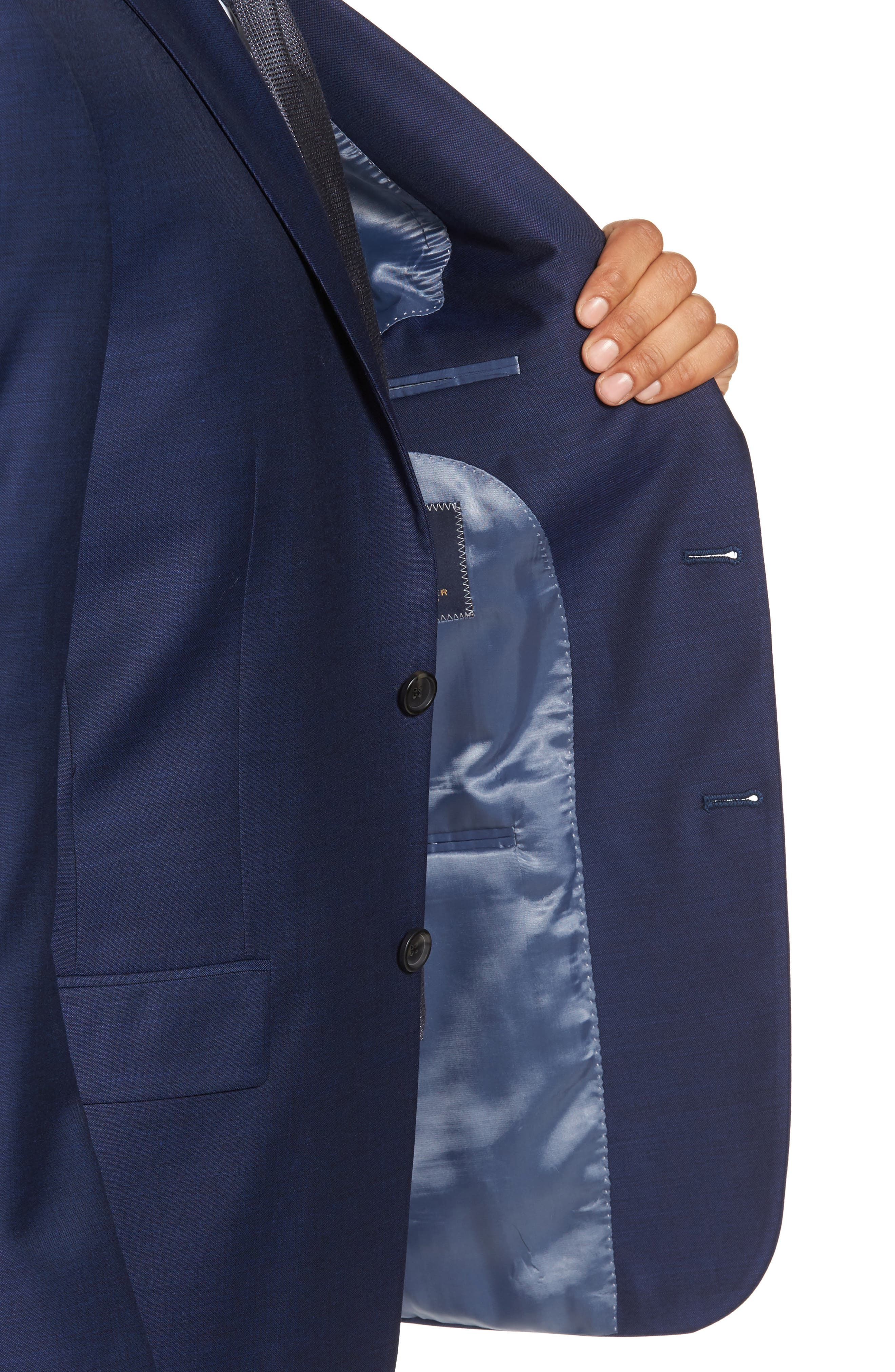 Classic Fit Solid Wool Suit,                             Alternate thumbnail 4, color,                             401