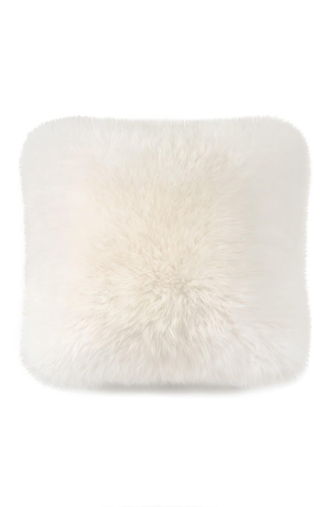 Genuine Sheepskin Pillow,                             Main thumbnail 1, color,                             NATURAL