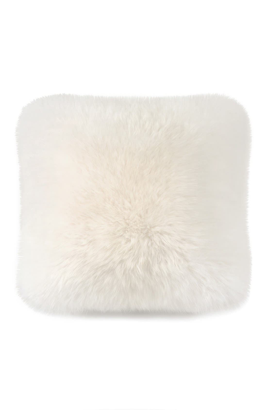Genuine Sheepskin Pillow,                         Main,                         color, NATURAL