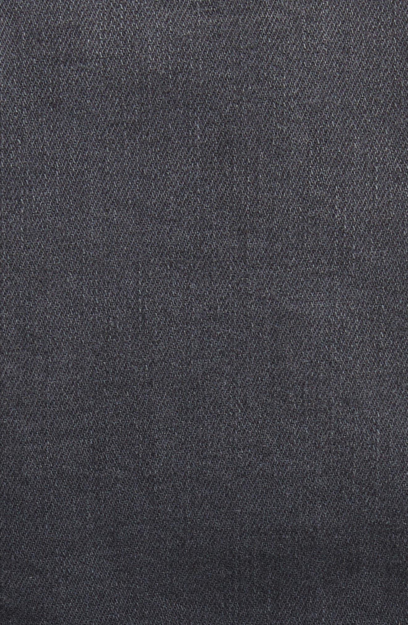 Zuma Lace Up Crop Denim Jacket,                             Alternate thumbnail 6, color,                             006