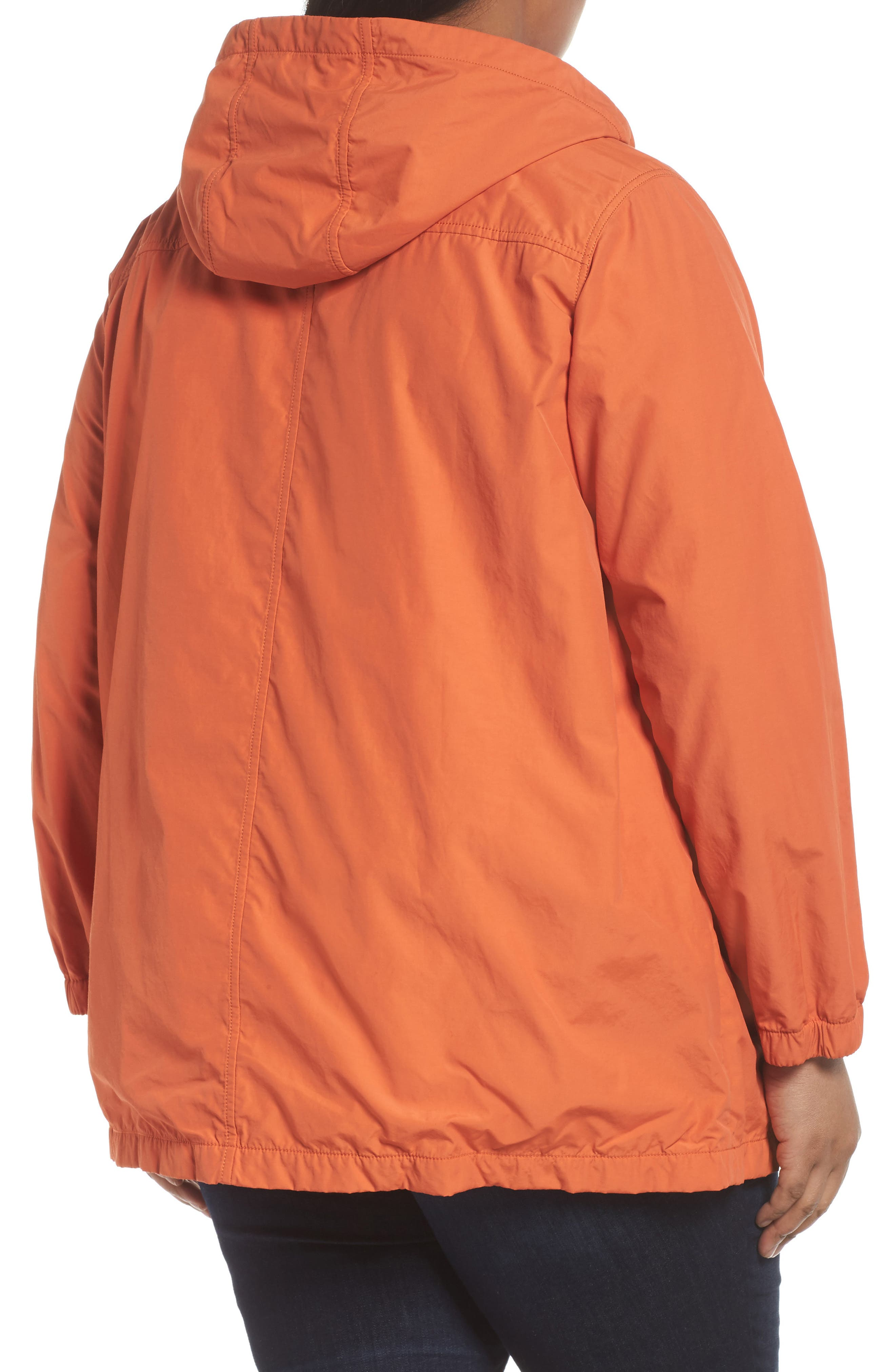 Hooded Organic Cotton Blend Jacket,                             Alternate thumbnail 2, color,                             001