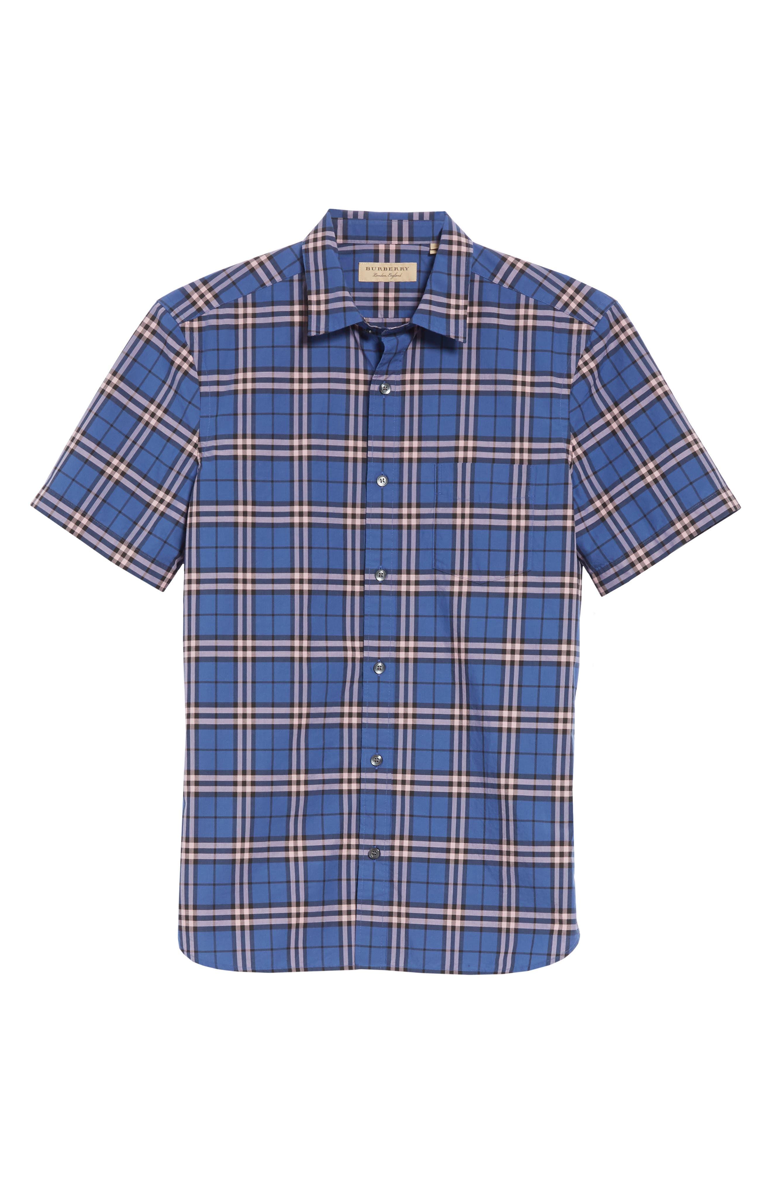 Alexander Check Shirt,                             Alternate thumbnail 6, color,                             409