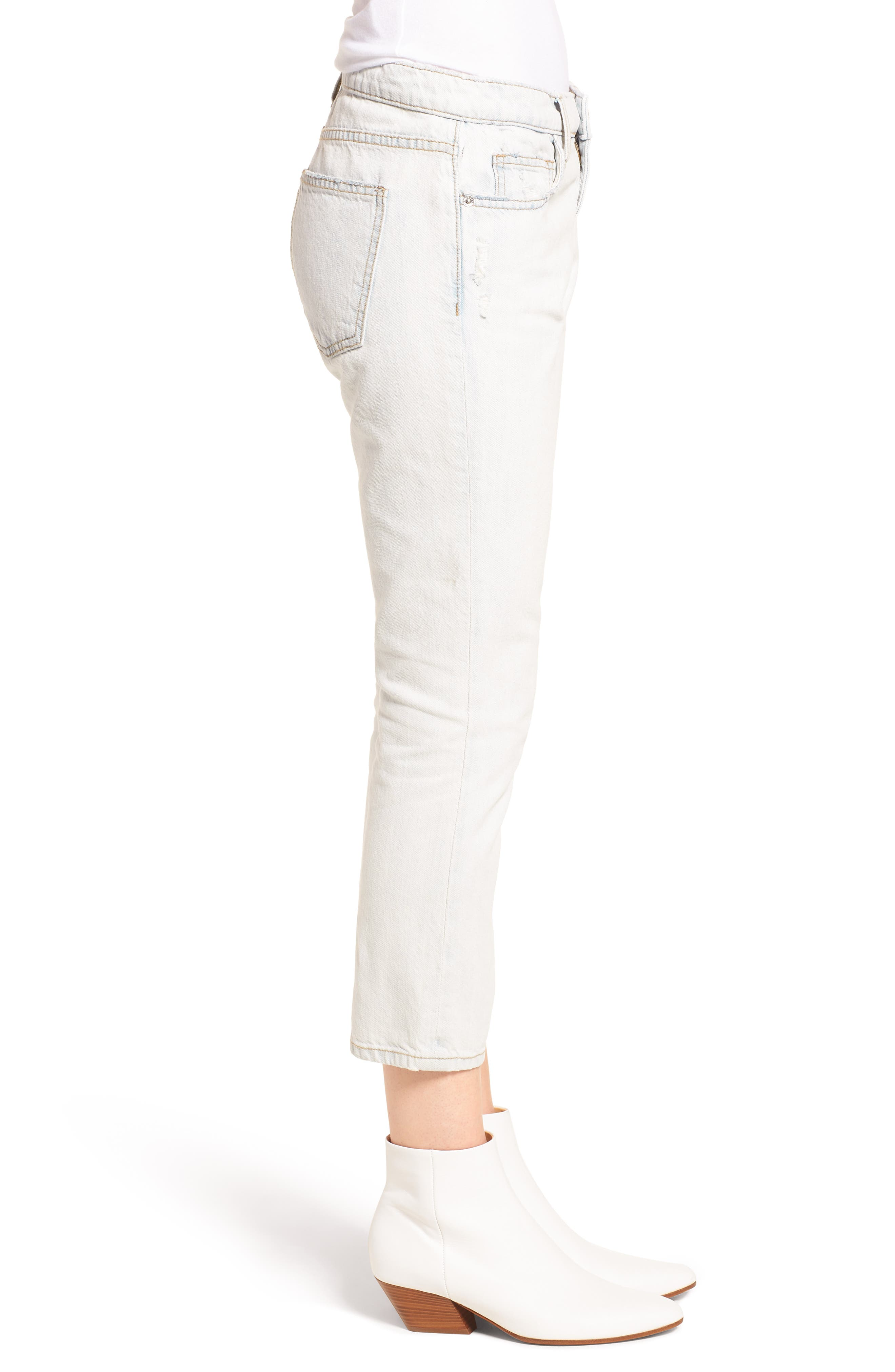 The Cropped Straight Leg Jeans,                             Alternate thumbnail 3, color,                             471