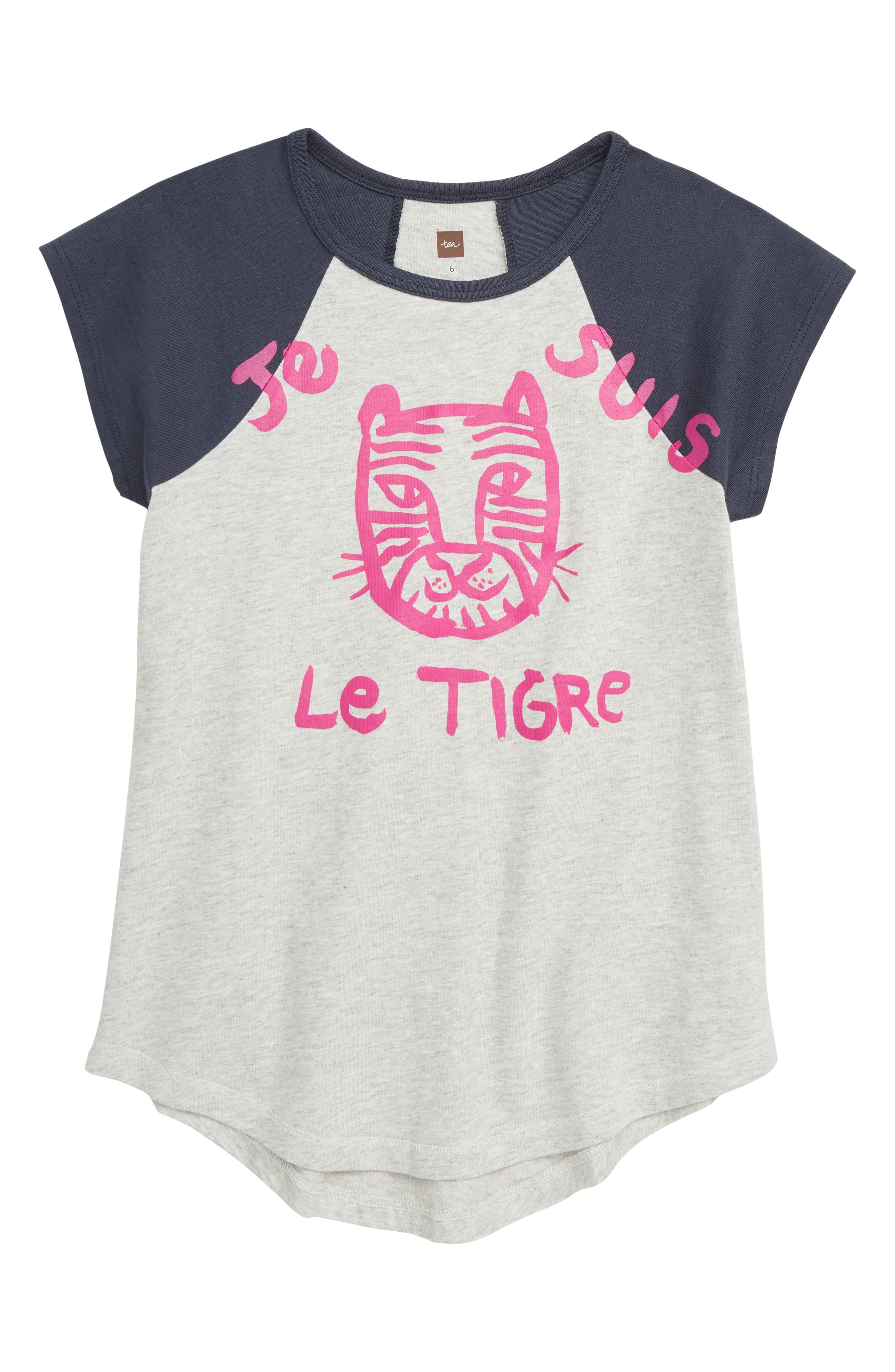 Le Tigre Raglan Tunic,                             Main thumbnail 1, color,                             LIGHT GREY HEATHER
