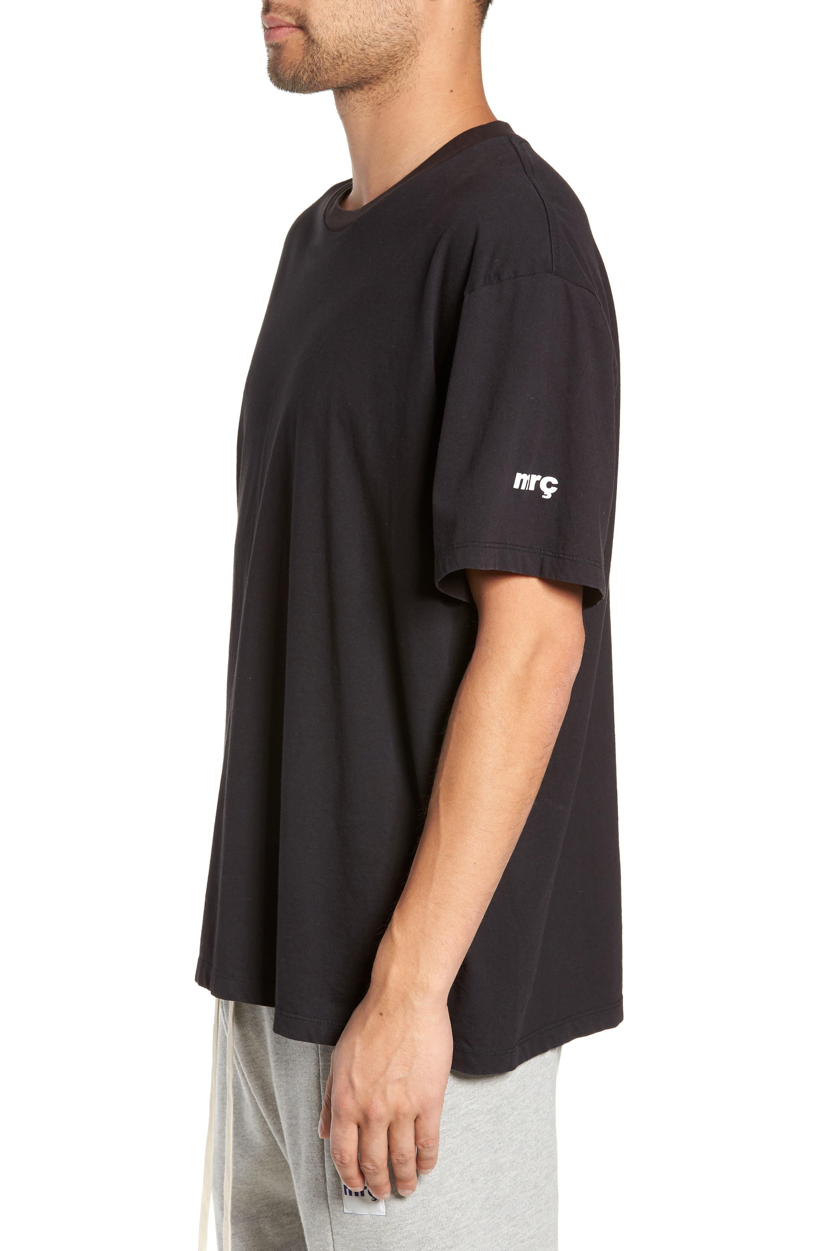Same Old Madness Oversize T-Shirt,                             Alternate thumbnail 3, color,                             BLACK