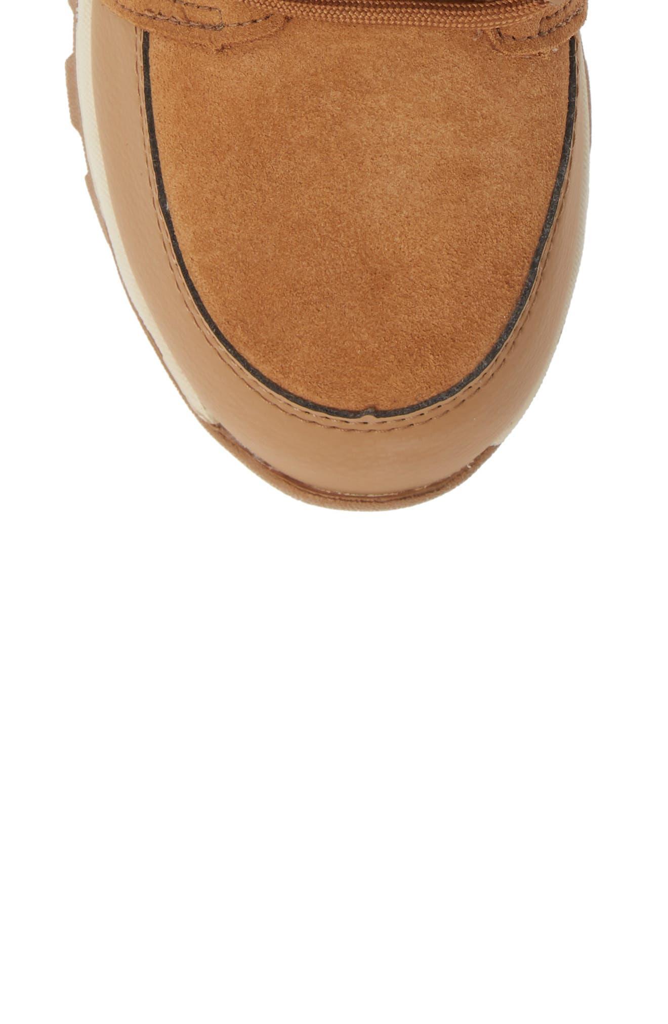Whitney Suede Waterproof Faux Fur Boot,                             Alternate thumbnail 5, color,                             ELK/ NATURAL