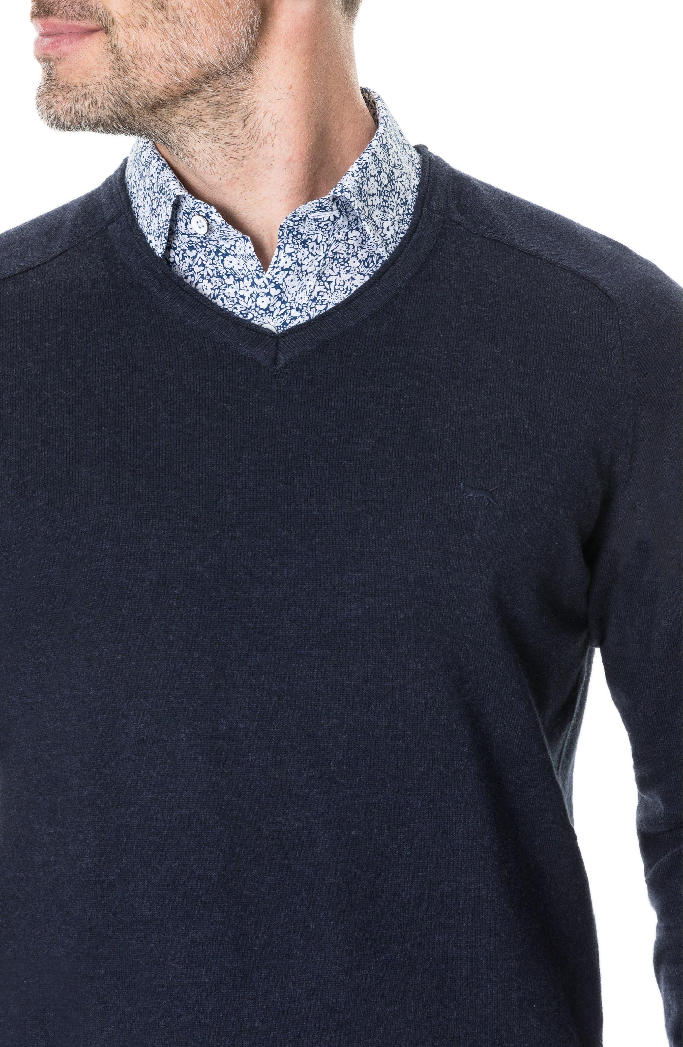 Arbors Cotton V-Neck Sweater,                             Alternate thumbnail 12, color,