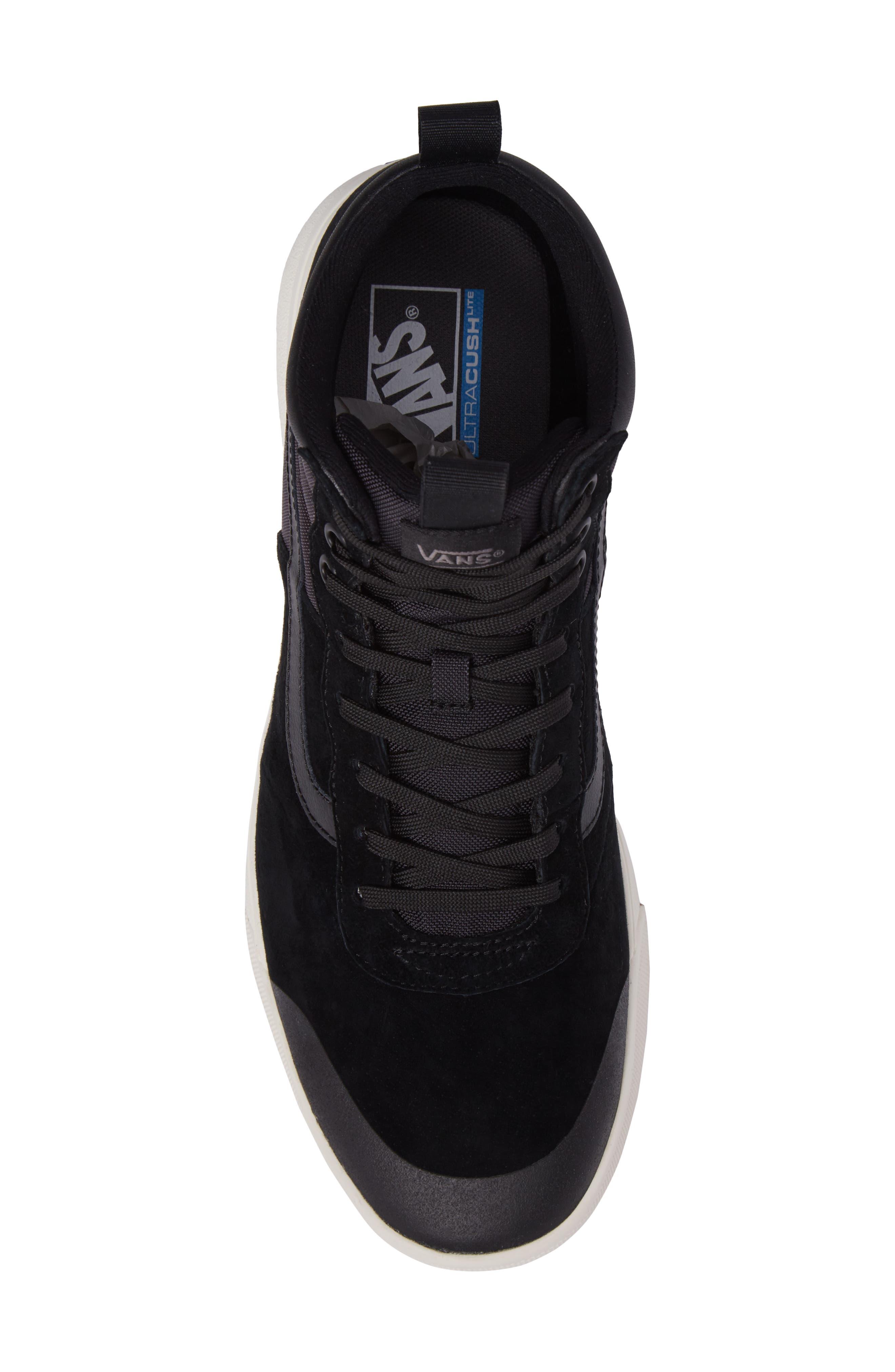 Ultrarange Hi Sneaker,                             Alternate thumbnail 5, color,                             BLACK SUEDE