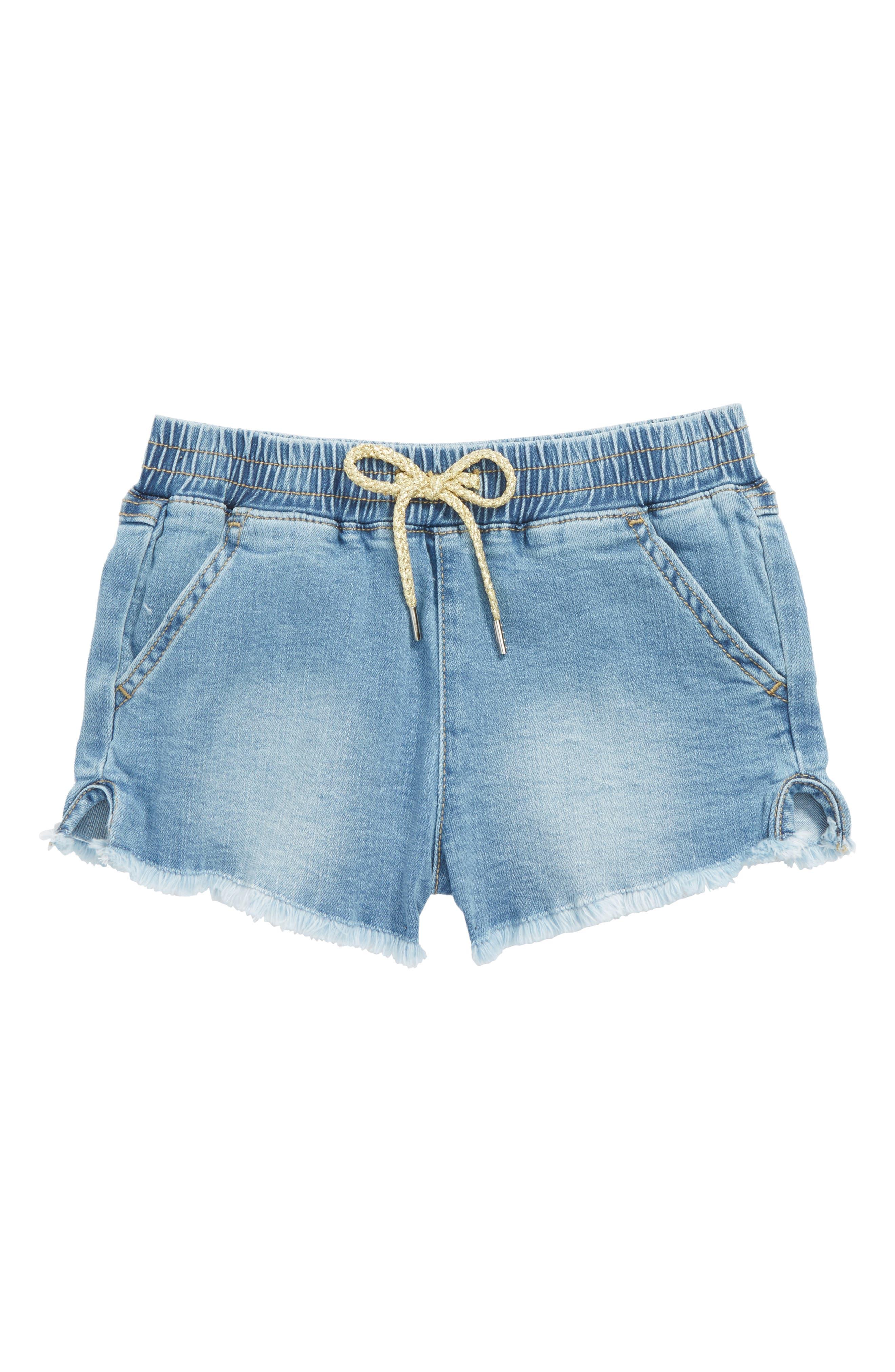 The Khloe Chambray Shorts,                         Main,                         color, 405