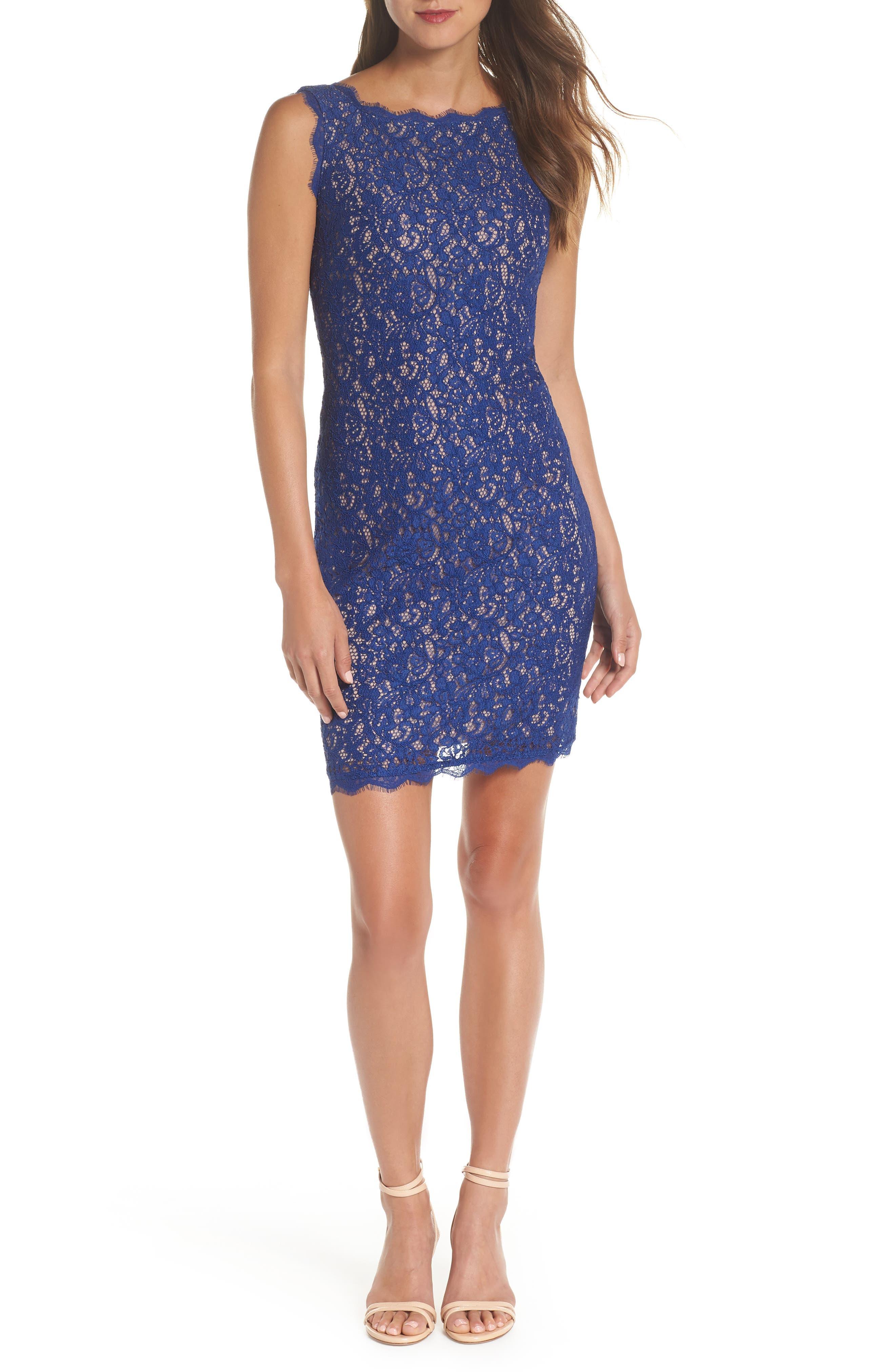 Boatneck Lace Sheath Dress,                             Alternate thumbnail 37, color,