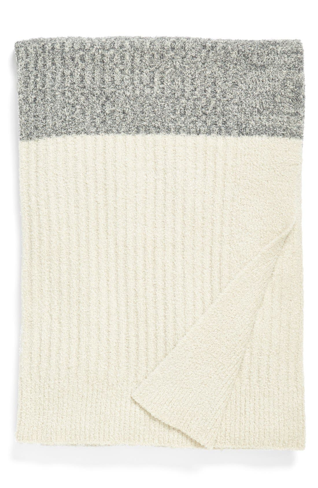 BAREFOOT DREAMS<SUP>®</SUP> Heathered Stripe Throw, Main, color, 020