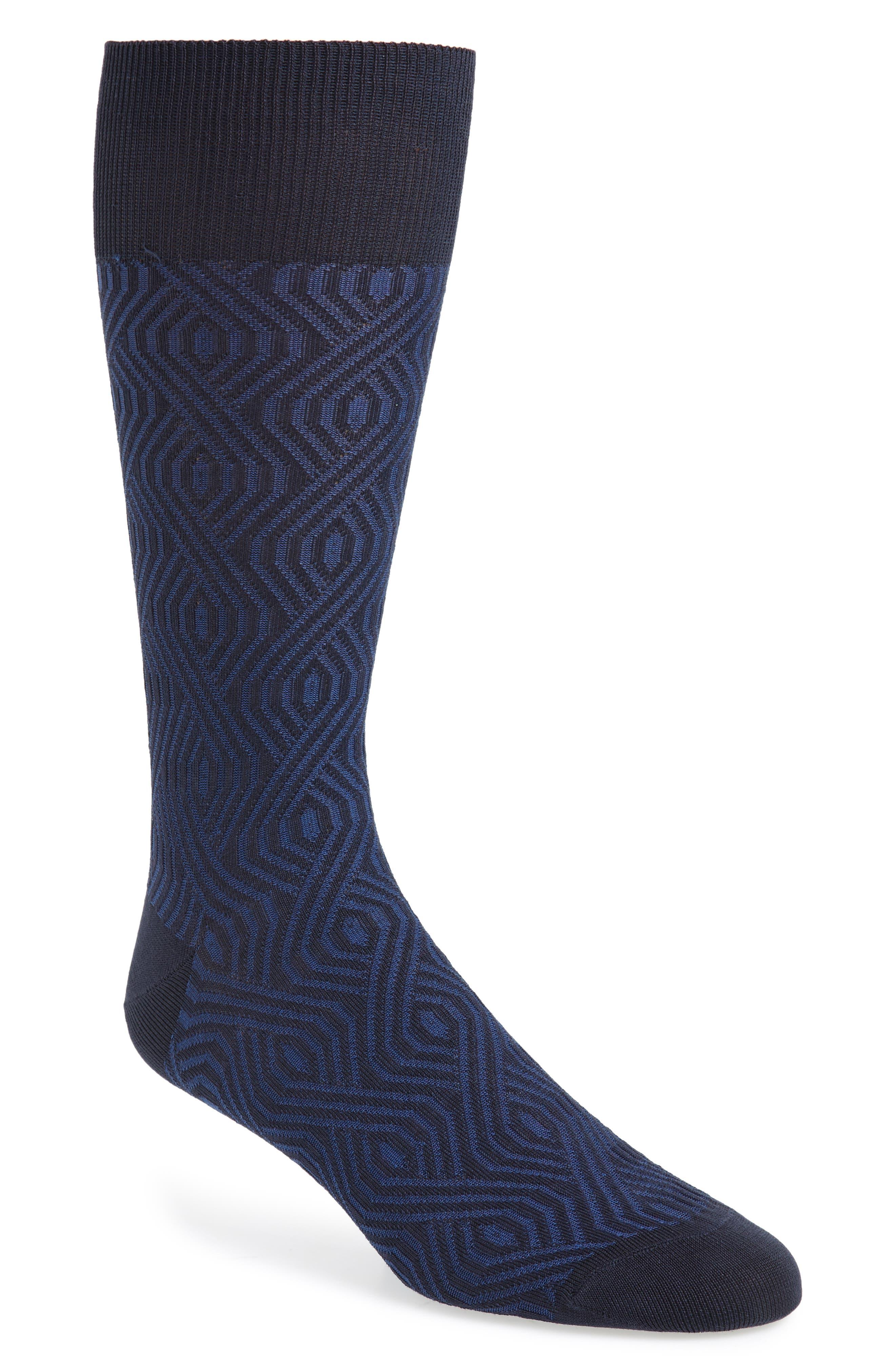 Geometric Socks,                             Main thumbnail 1, color,                             410