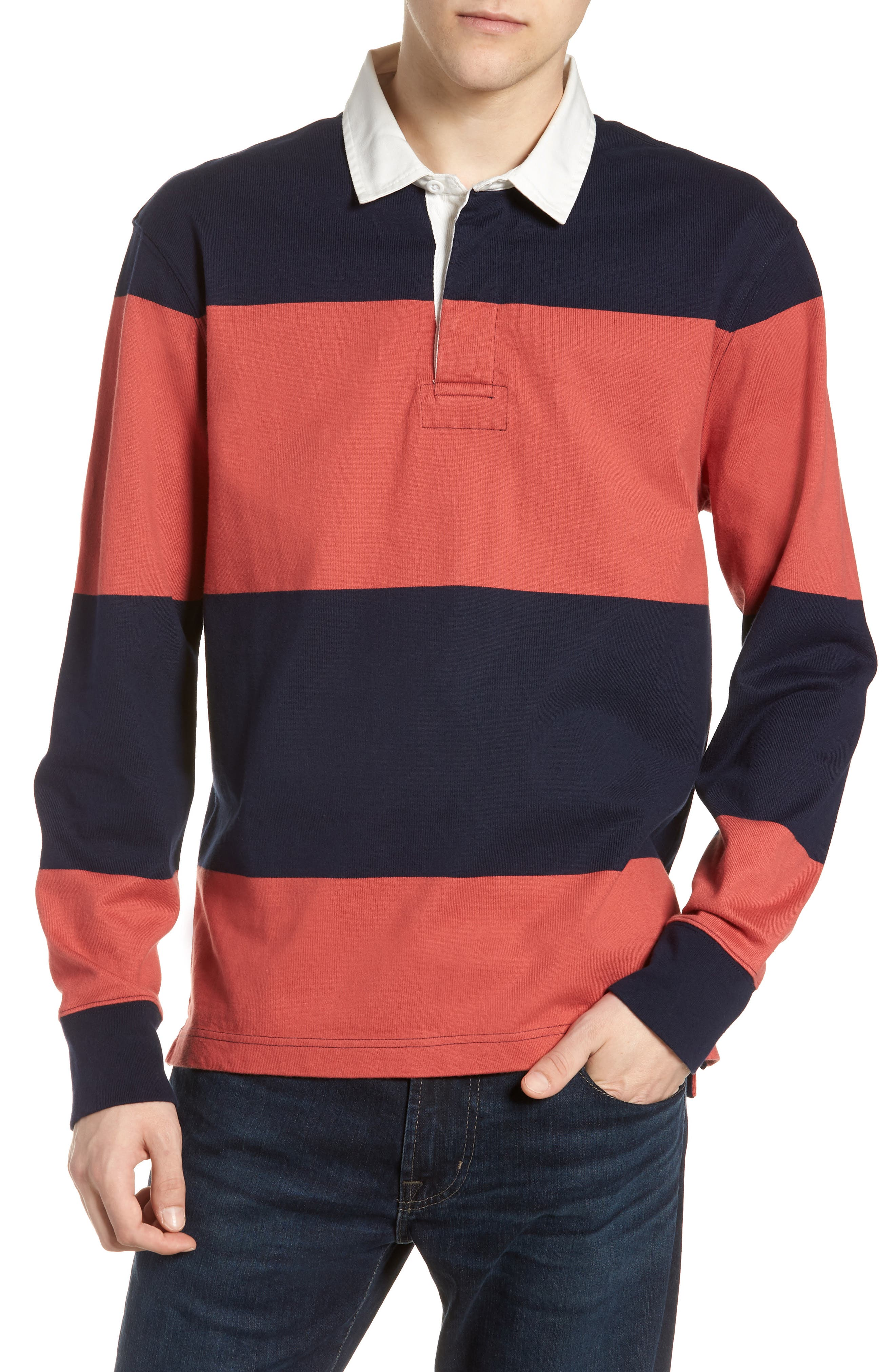 1984 Stripe Rugby Shirt,                         Main,                         color, 600